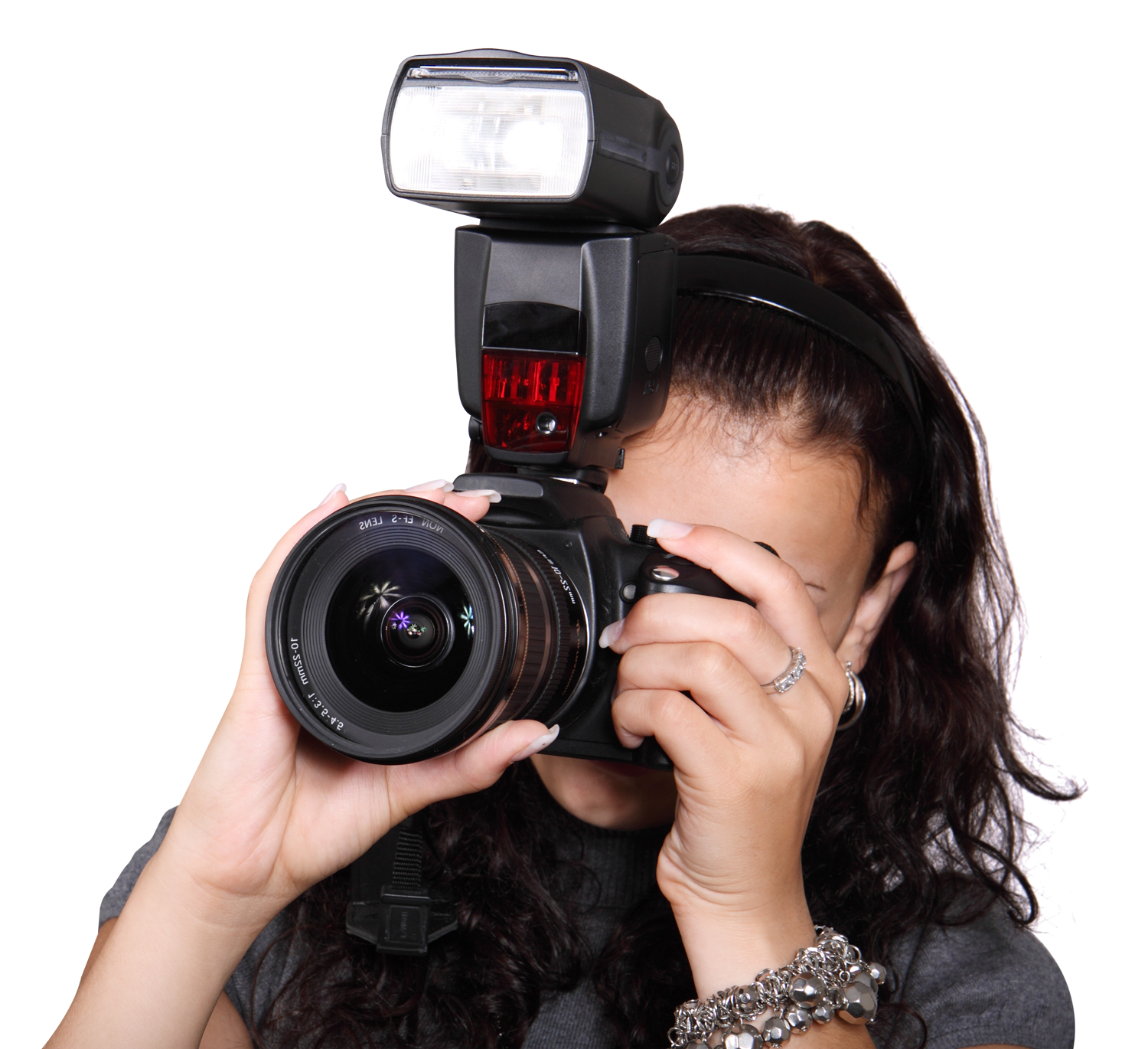 Woman Taking Photo With Digital Camera Png Image 28146