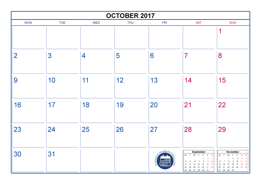 October 2017 Calendar Png Pictures 3675