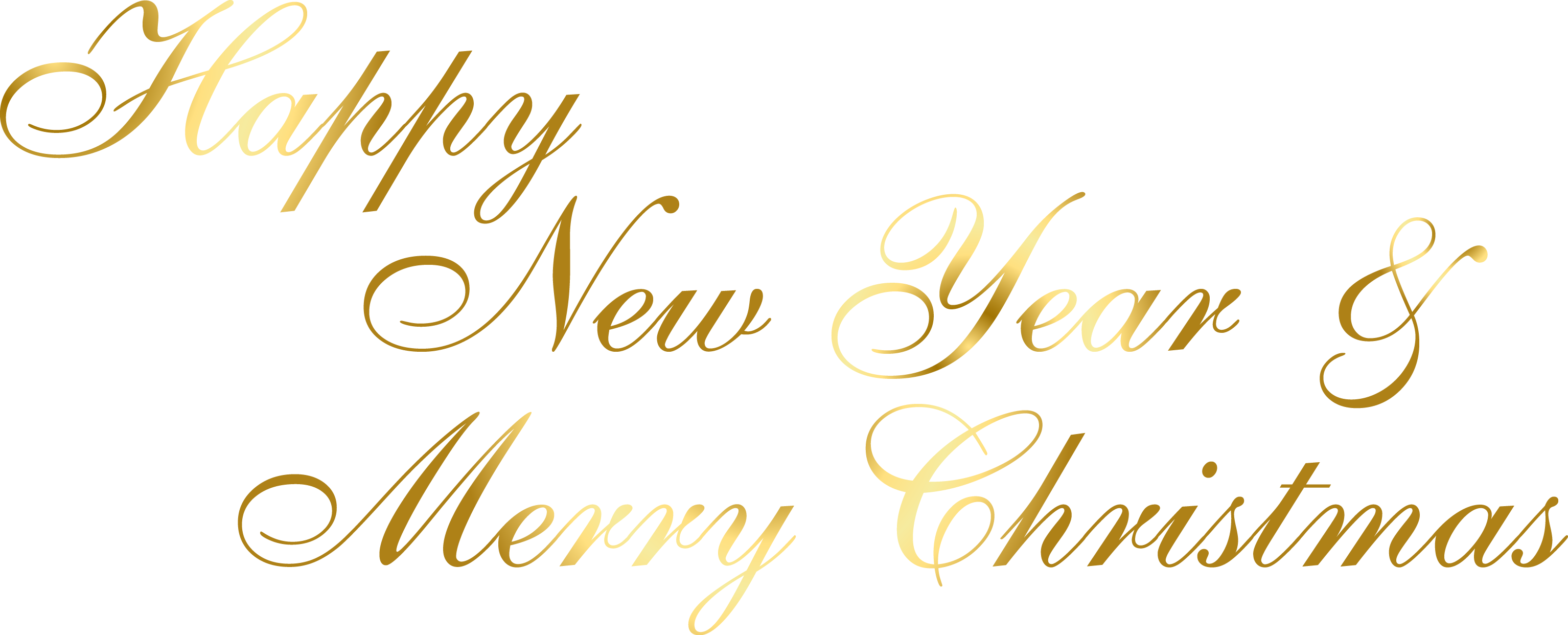 Happy New Year And Merry Christmas Png