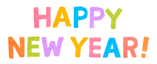 Happy New Year Text Banner Png 6362