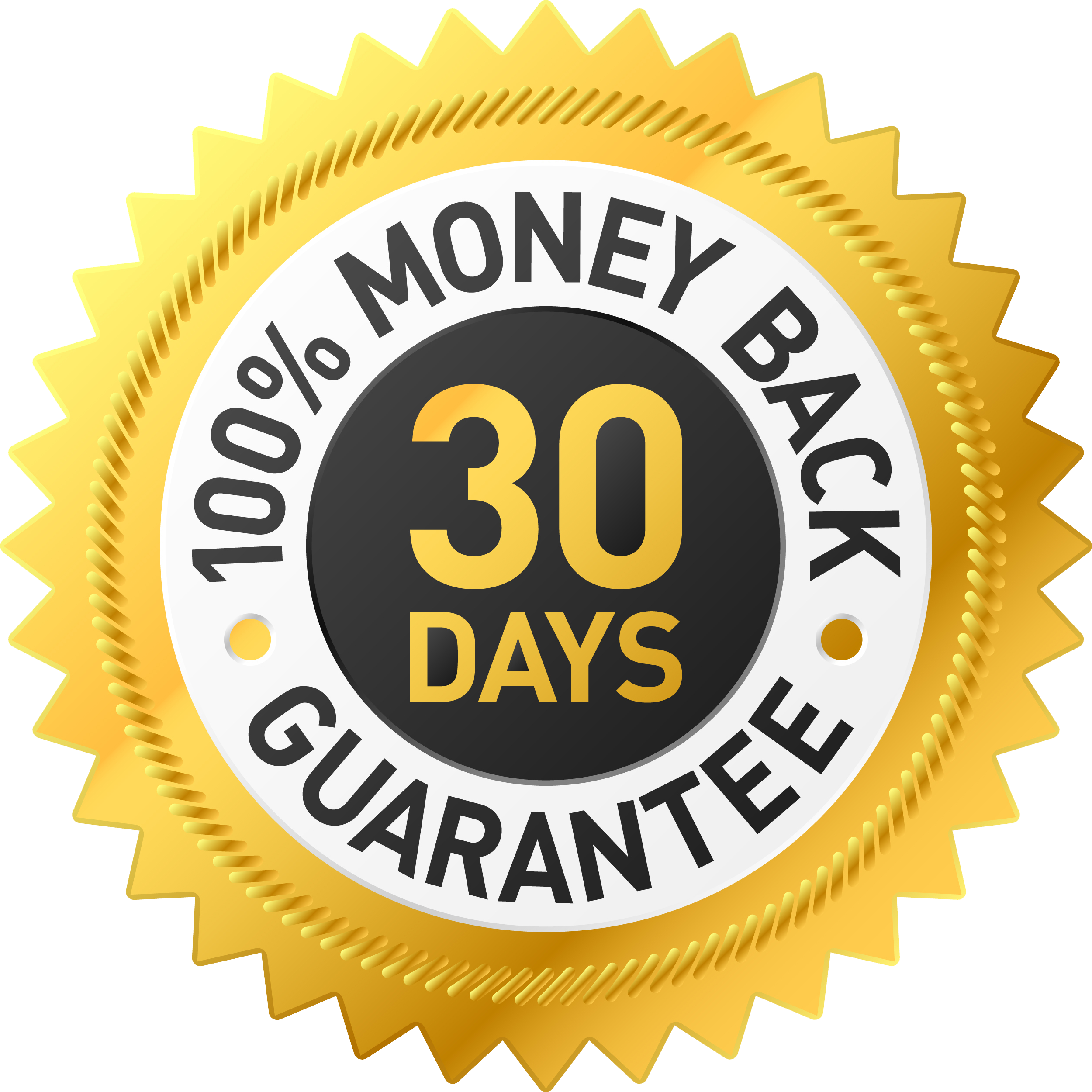 30 Day Money Back Guarantee Transparent - 15977 - TransparentPNG