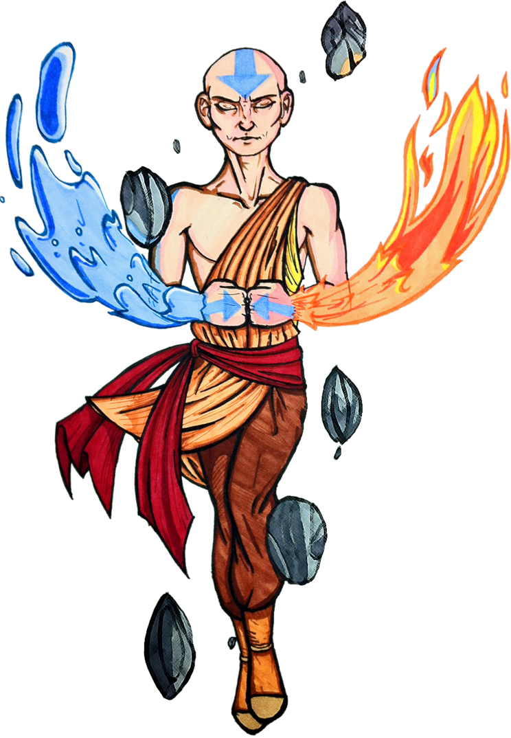 Strategist, Avatar Aang, Fire And Water 26584