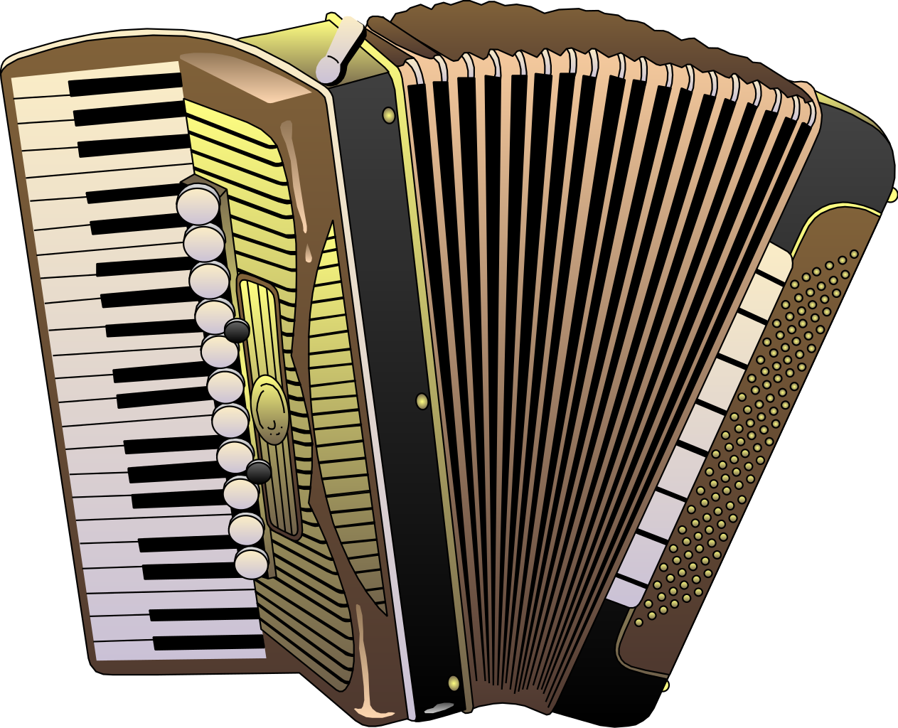 Simple Accordion Image Clipart Style Illustration 26662
