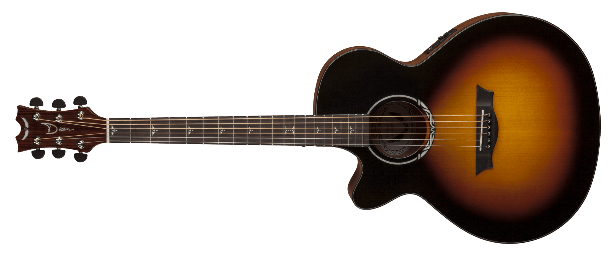Beautifully Styled, Black And Brown Acoustic Guitar Photo 26775