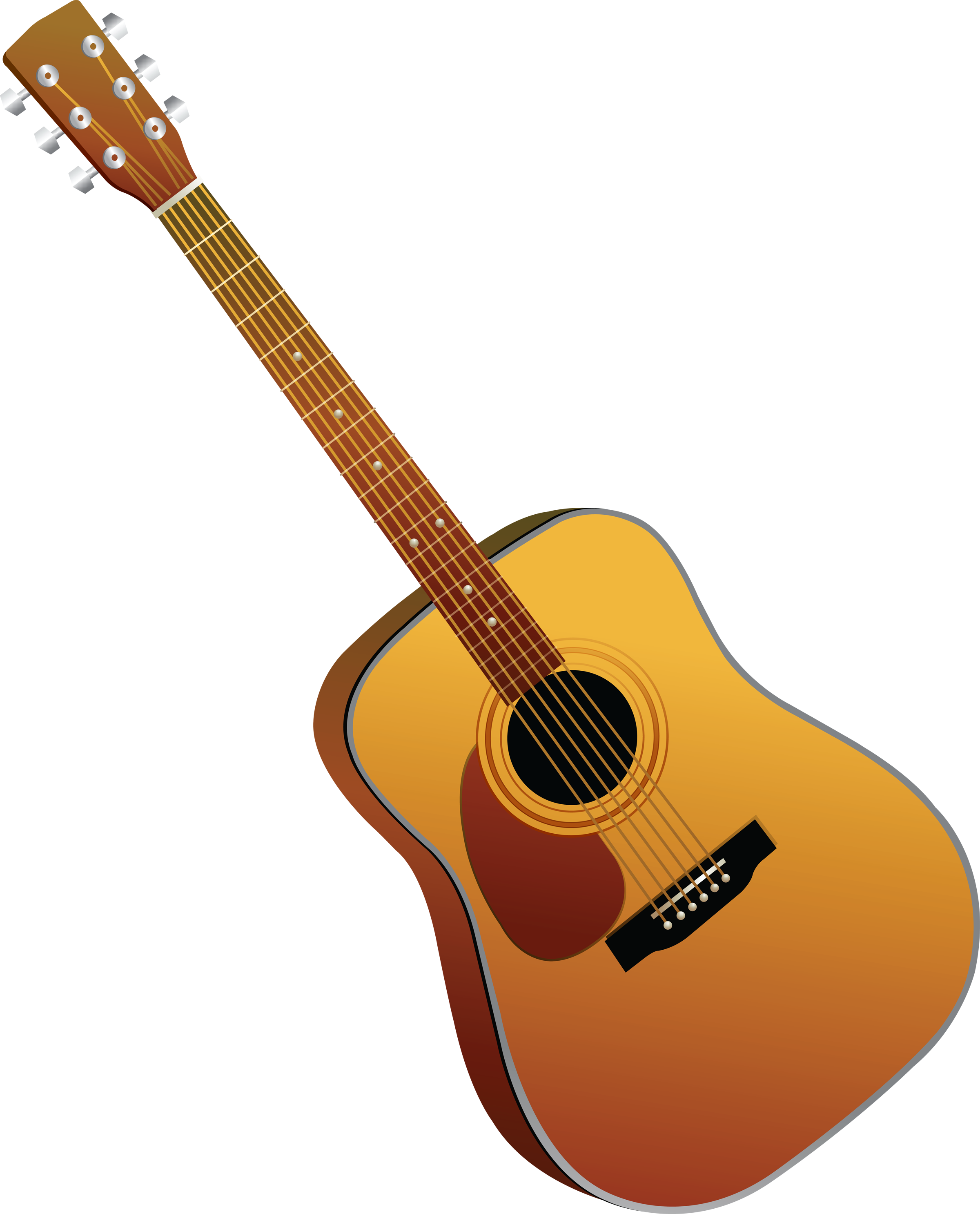 Simple Light Brown Acoustic Guitar Picture Photo 26792