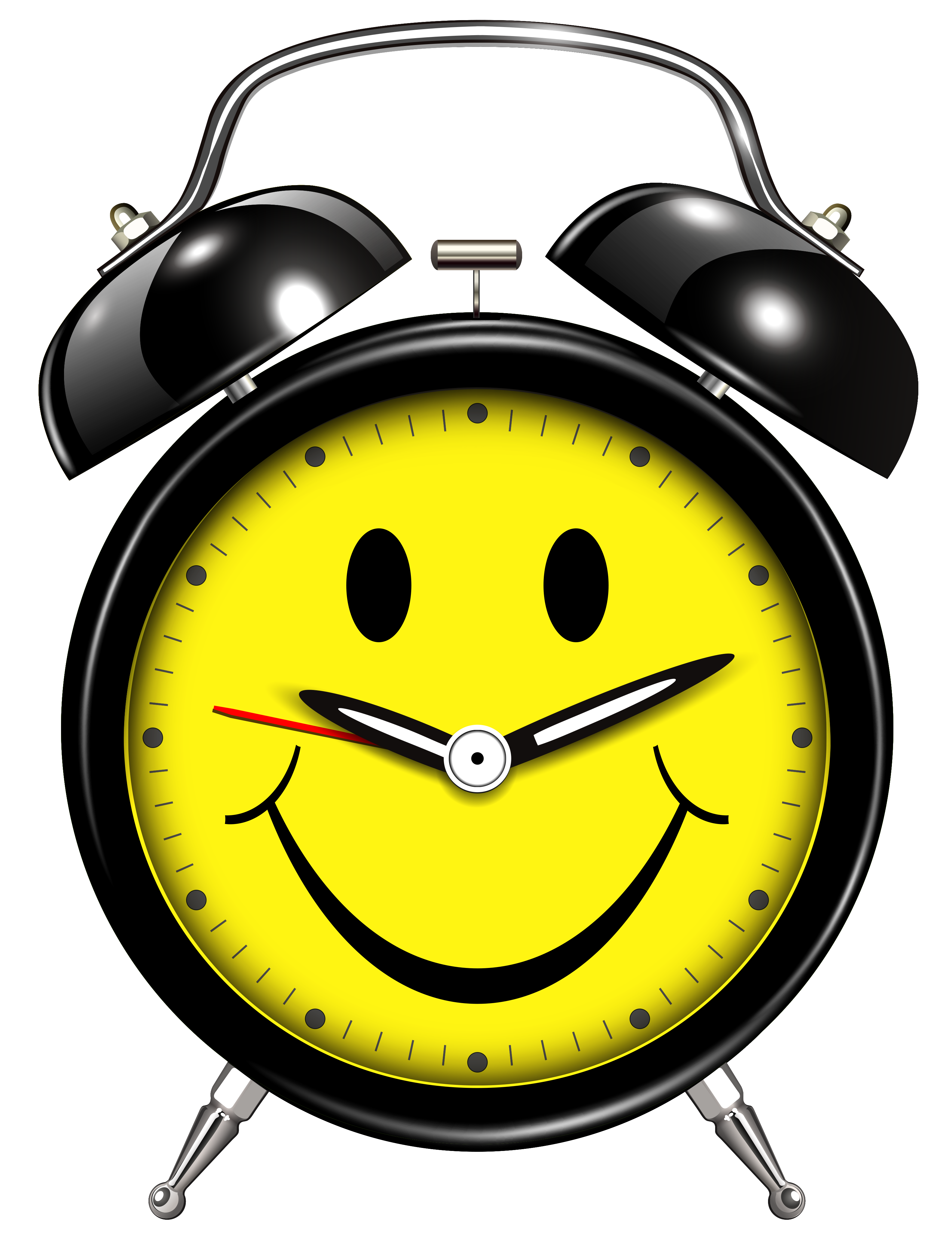 Smiling, Clock, Alarm Transparent Background PNG Images