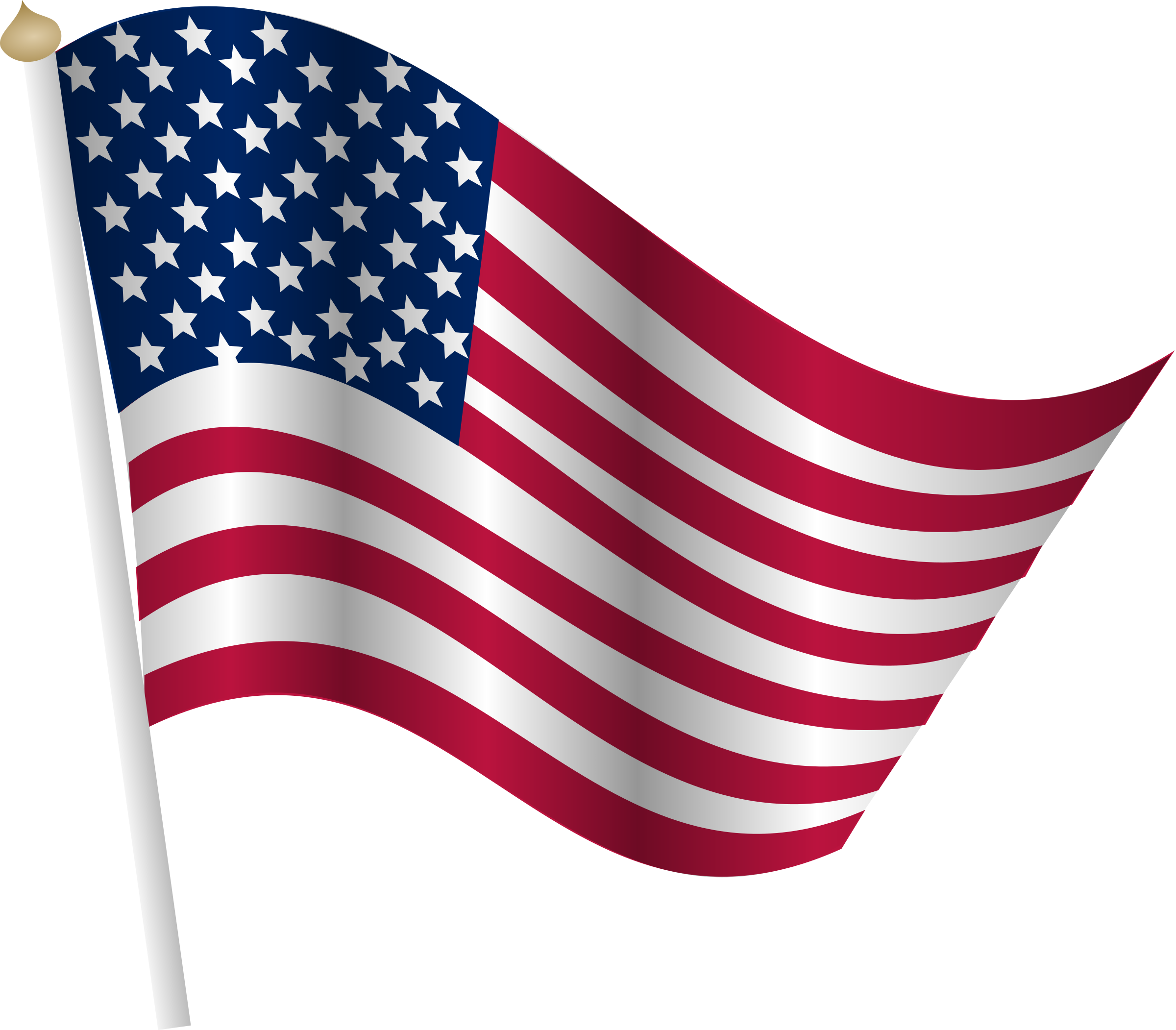 Clipart American Flag 6754