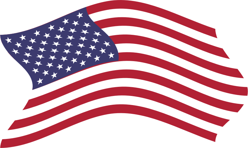 Clipart American Flag Breezy 5 6753