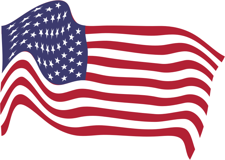 Clipart American Flag Breezy 8 6763