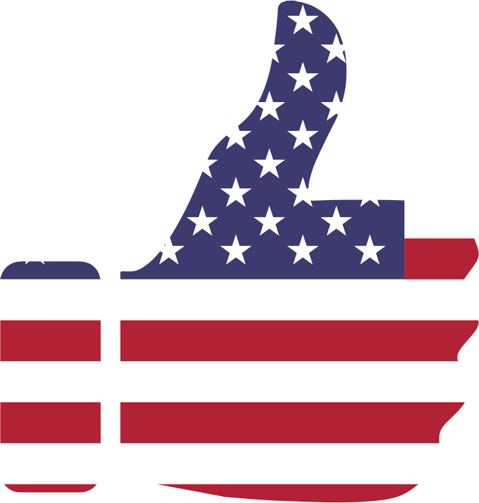 Clipart Thumbs Up American Flag 6765
