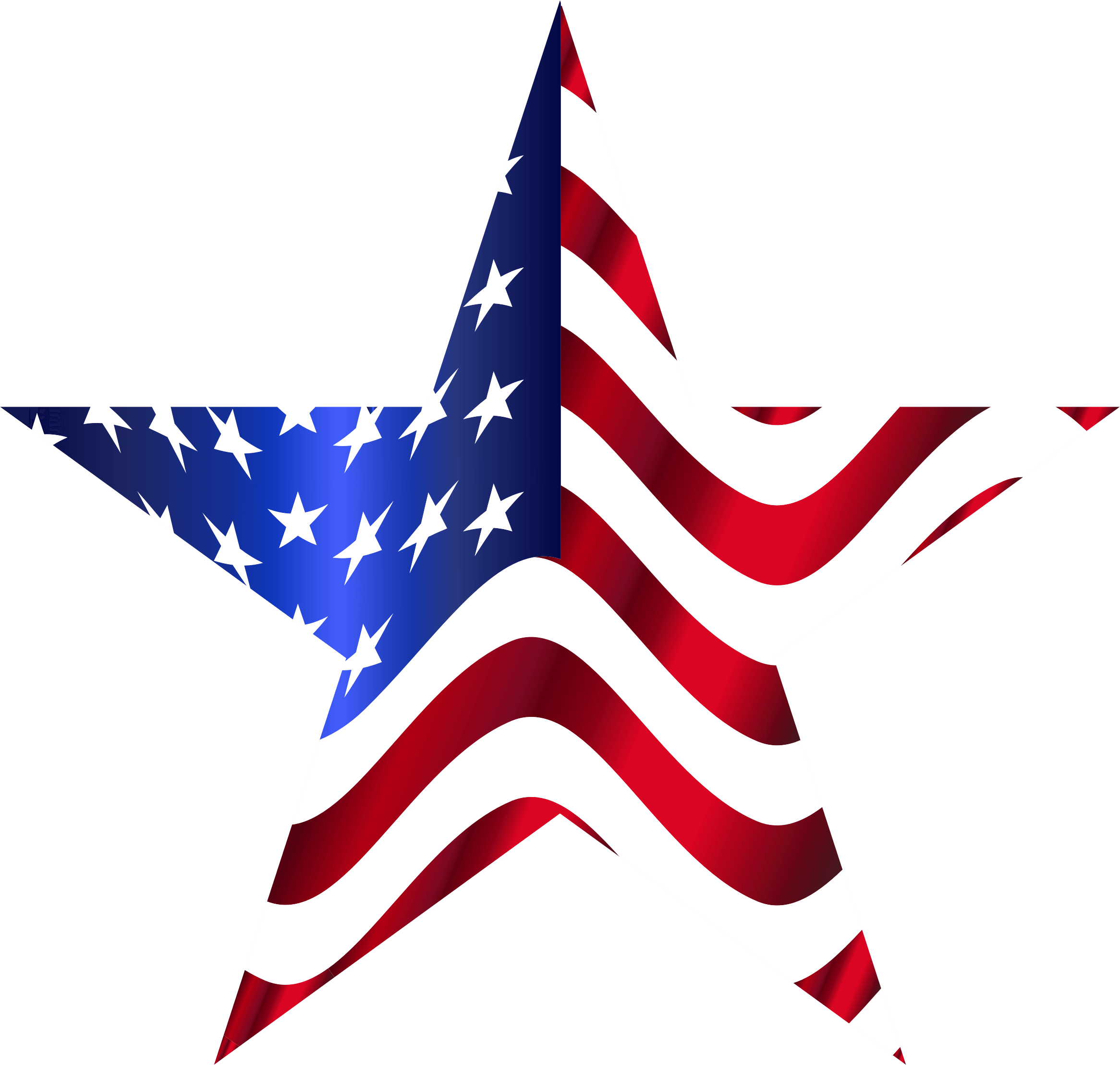 Star American Flag Transparent Png Photo 6778