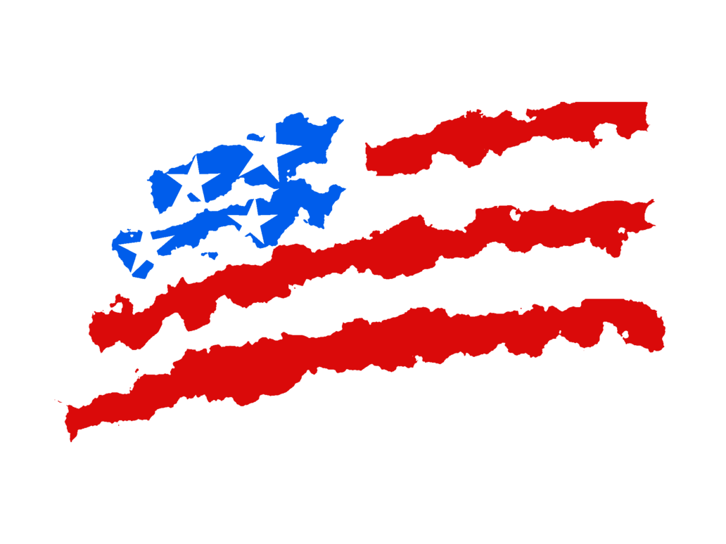 Waving American Flag Drawing Png 6764