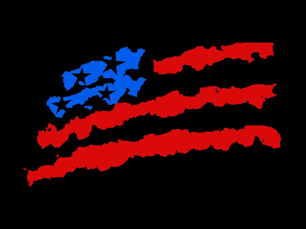 Waving American Flag Drawing Png 6764 Transparentpng