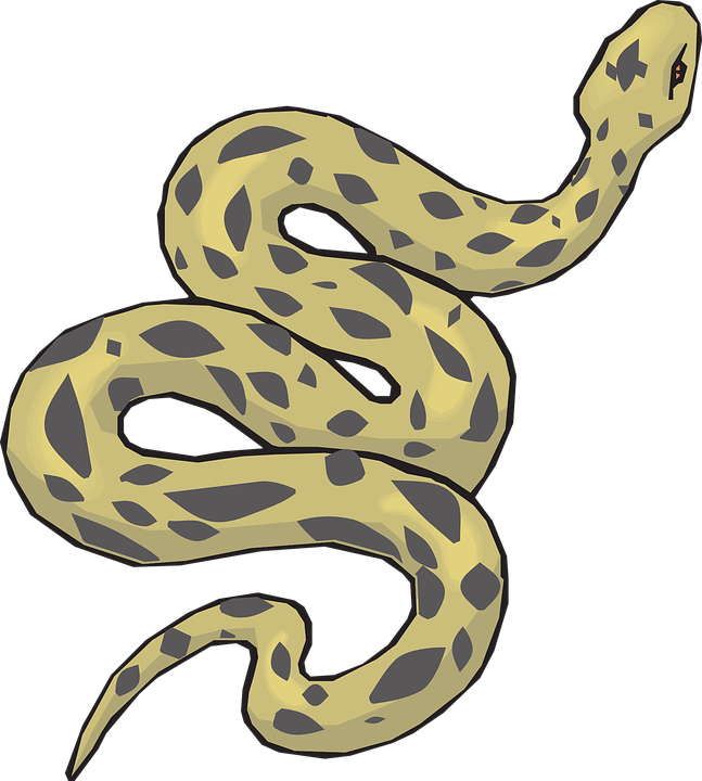 Green Black Snake Polka Dotted Clipart 27456