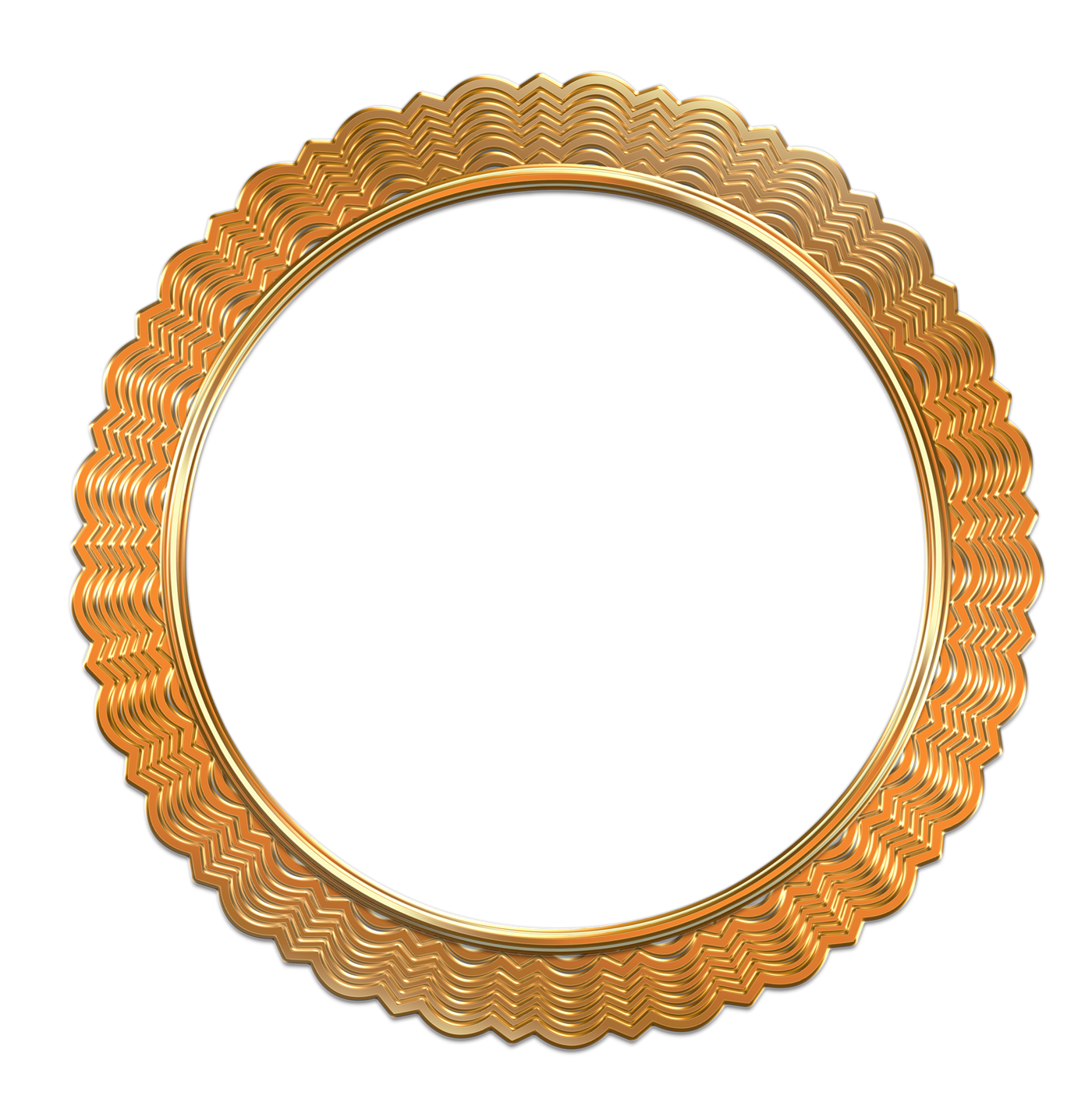 Antique Gold Photo Frame Png Image - 2282 - TransparentPNG