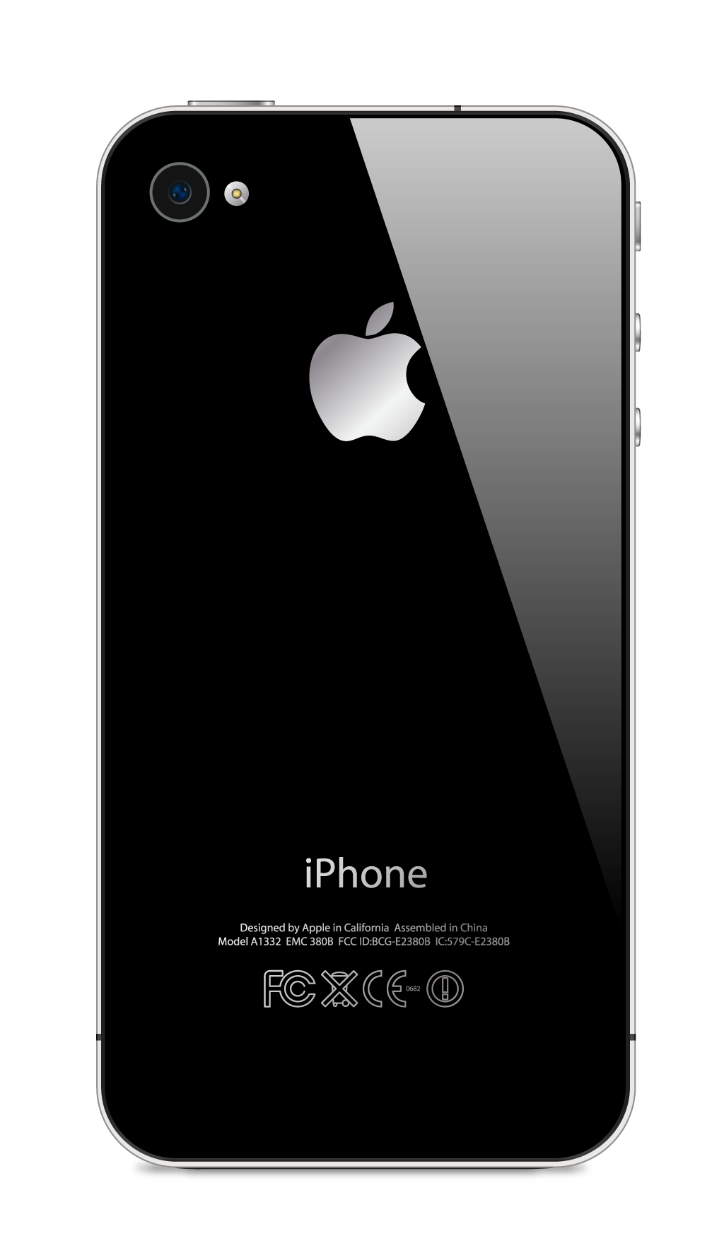 Apple Iphone Back View PNG Picture 19998