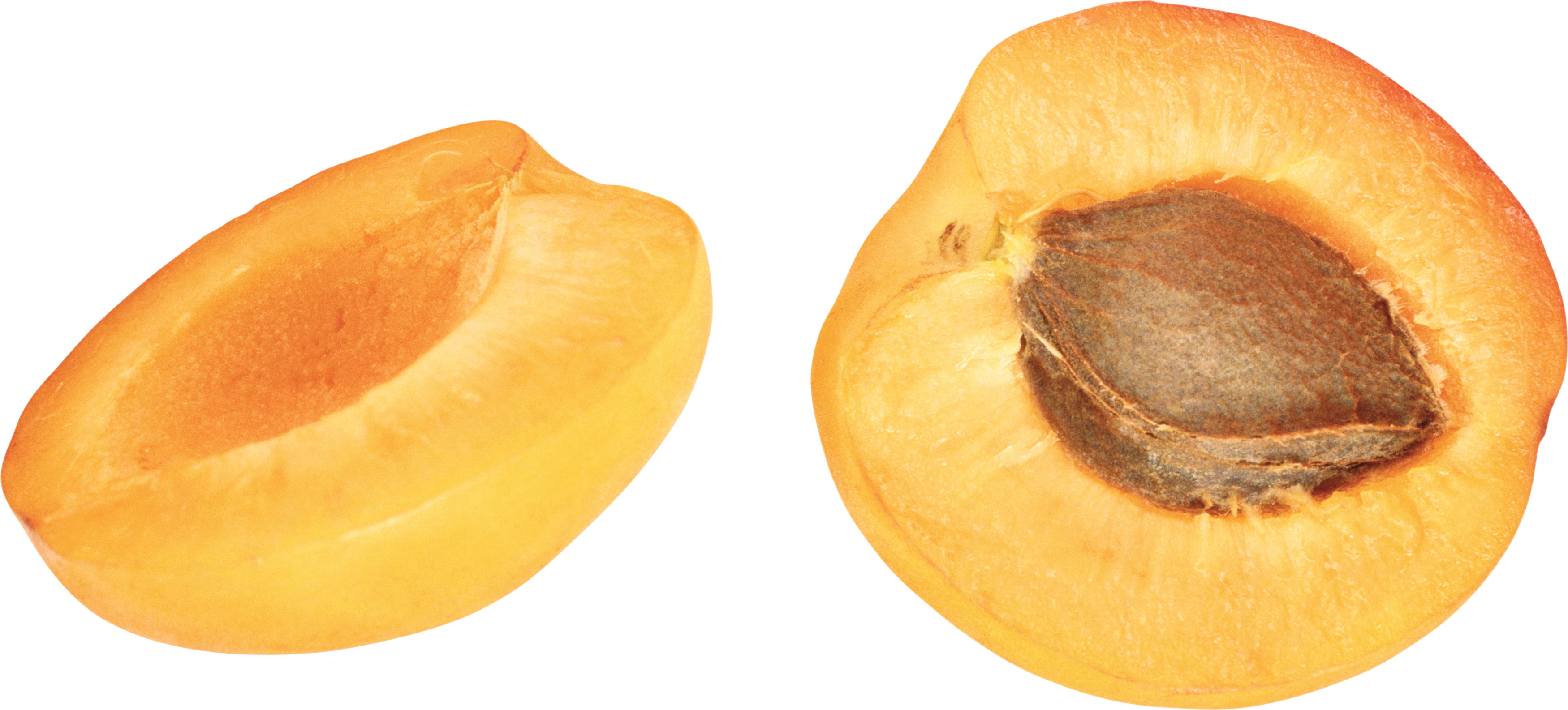 Apricot Slice Transparent PNG, Orange Apricots 27224