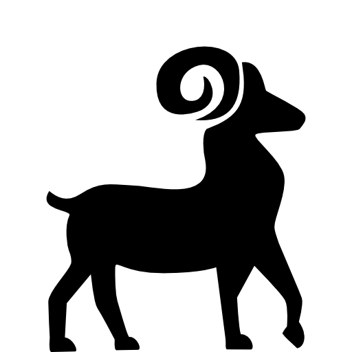 Aries Curved Horned PNG Image 27256