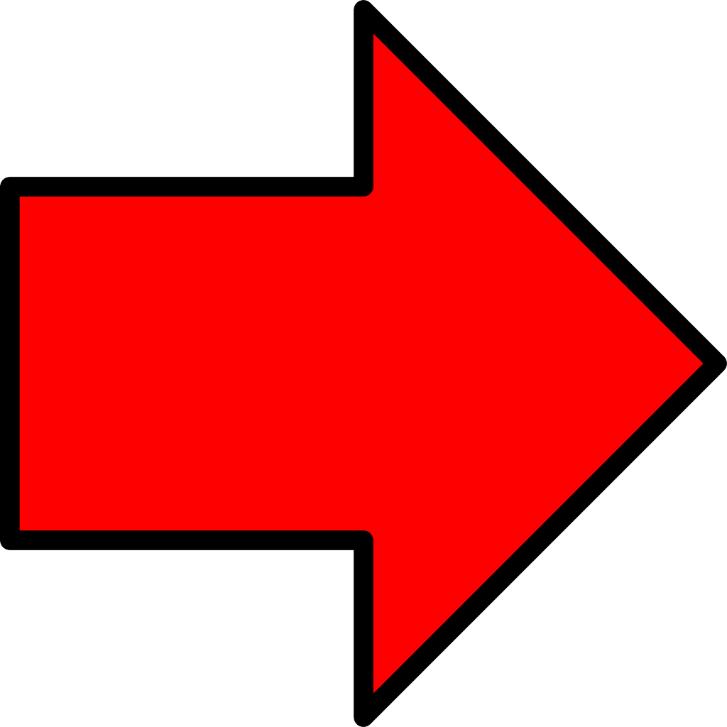 Red Drawn Arrow Png 6429