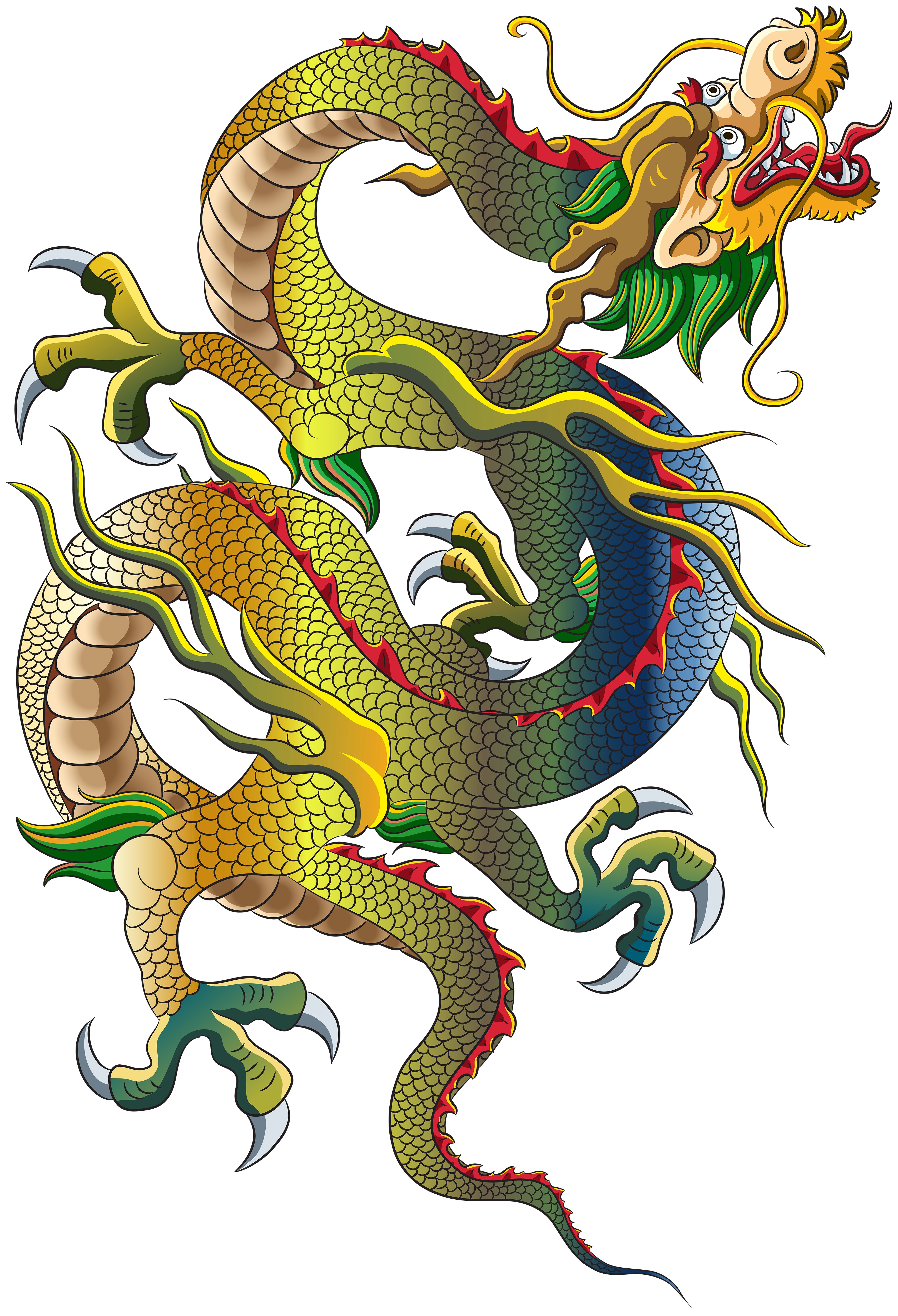 Chinese Art Dragon Snake Clipart, Snake, Footless Reptile, Hissing Sound, Venomous 27382