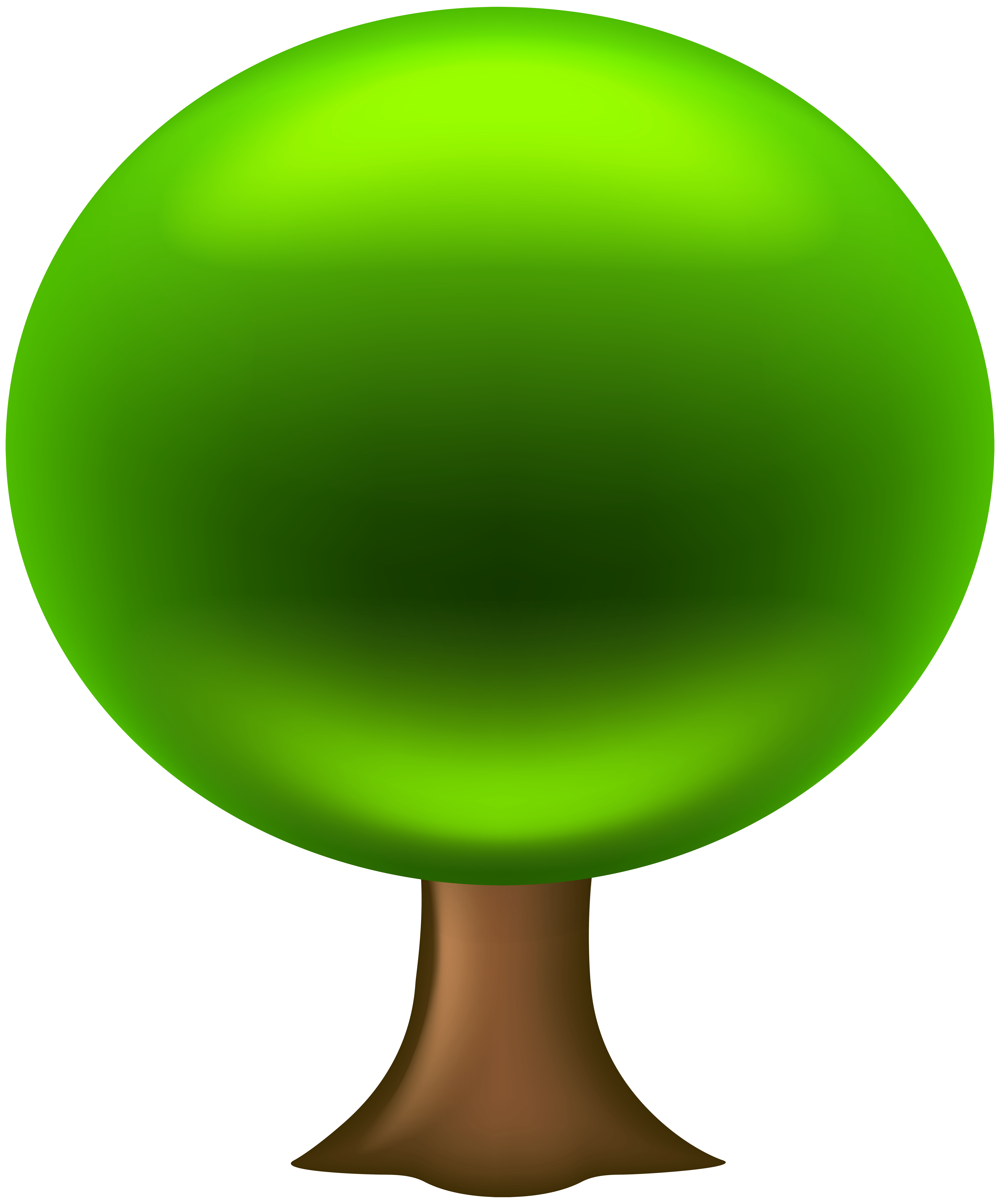 PNG Ellipse Shaped Green Leafy Clipart Tree Art Photo