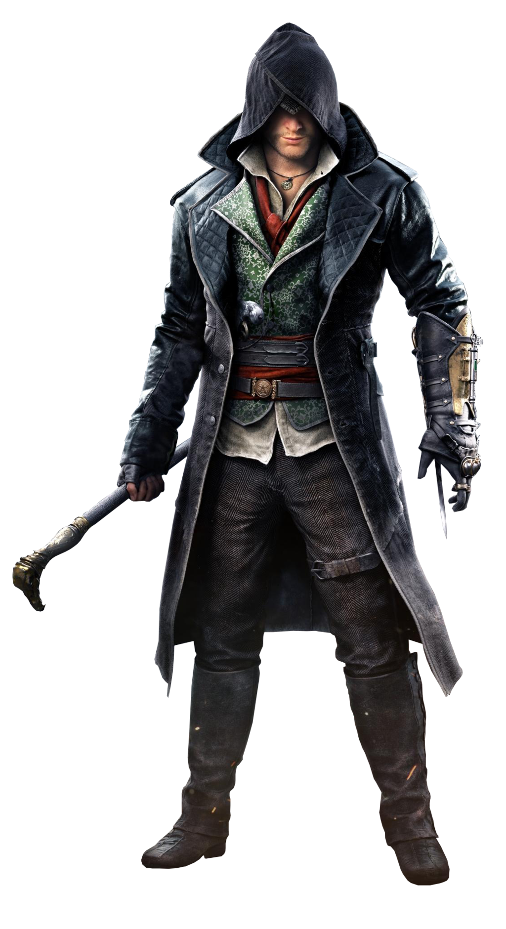 PNG Assassins Creed Actor With A Black Hat In His Hand. 27528