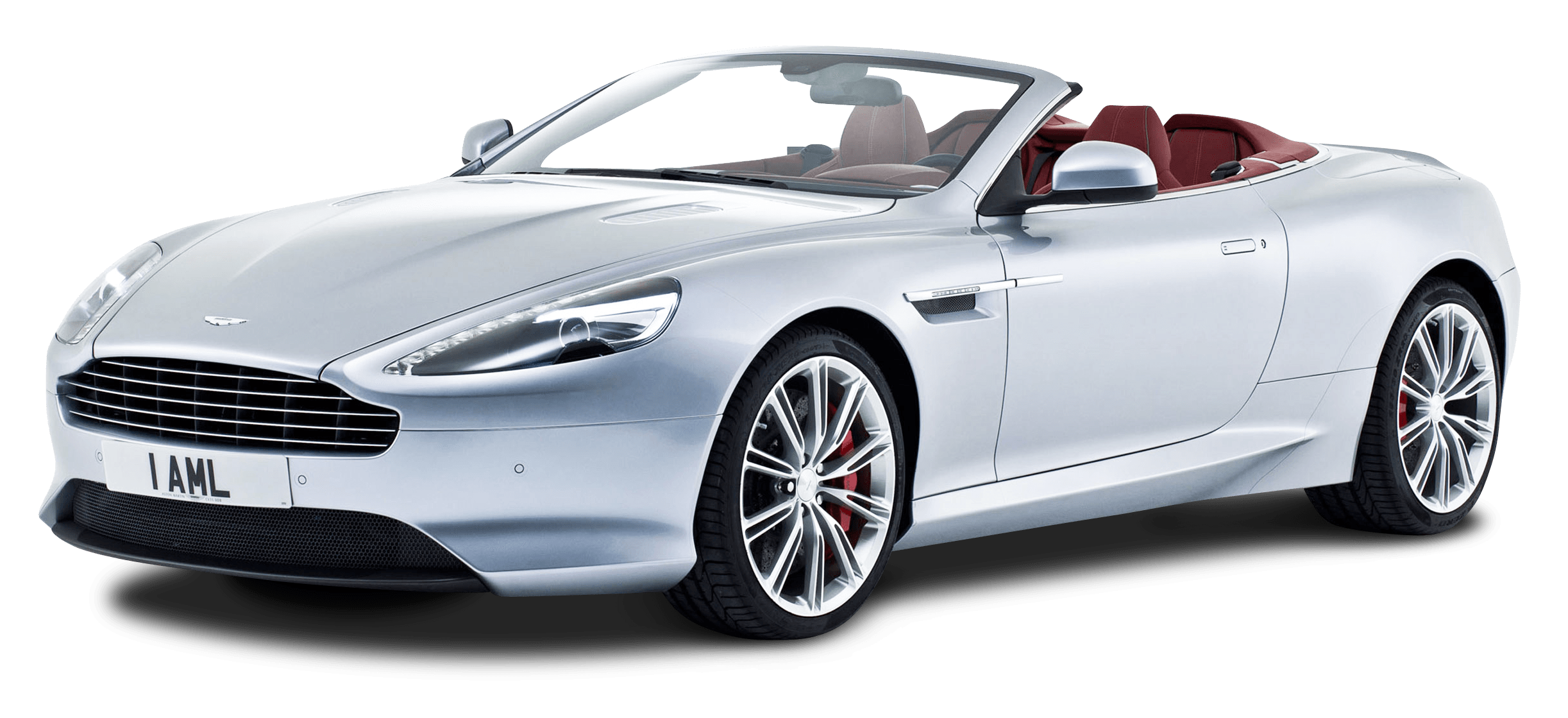 PNG Aston Martin White Convertible Car Png 27472