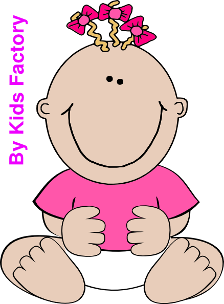 Pink Baby Girl Sitting Png Clipart 517