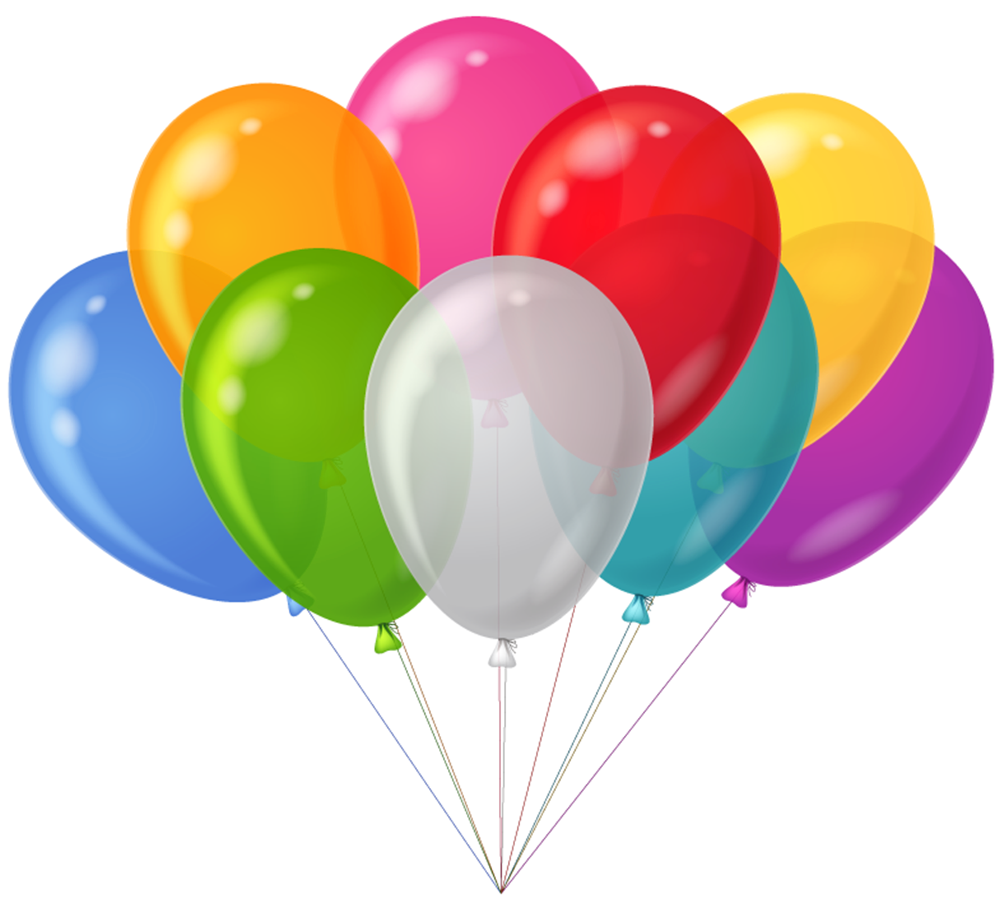 Color Balloon Background Transparent PNG Images