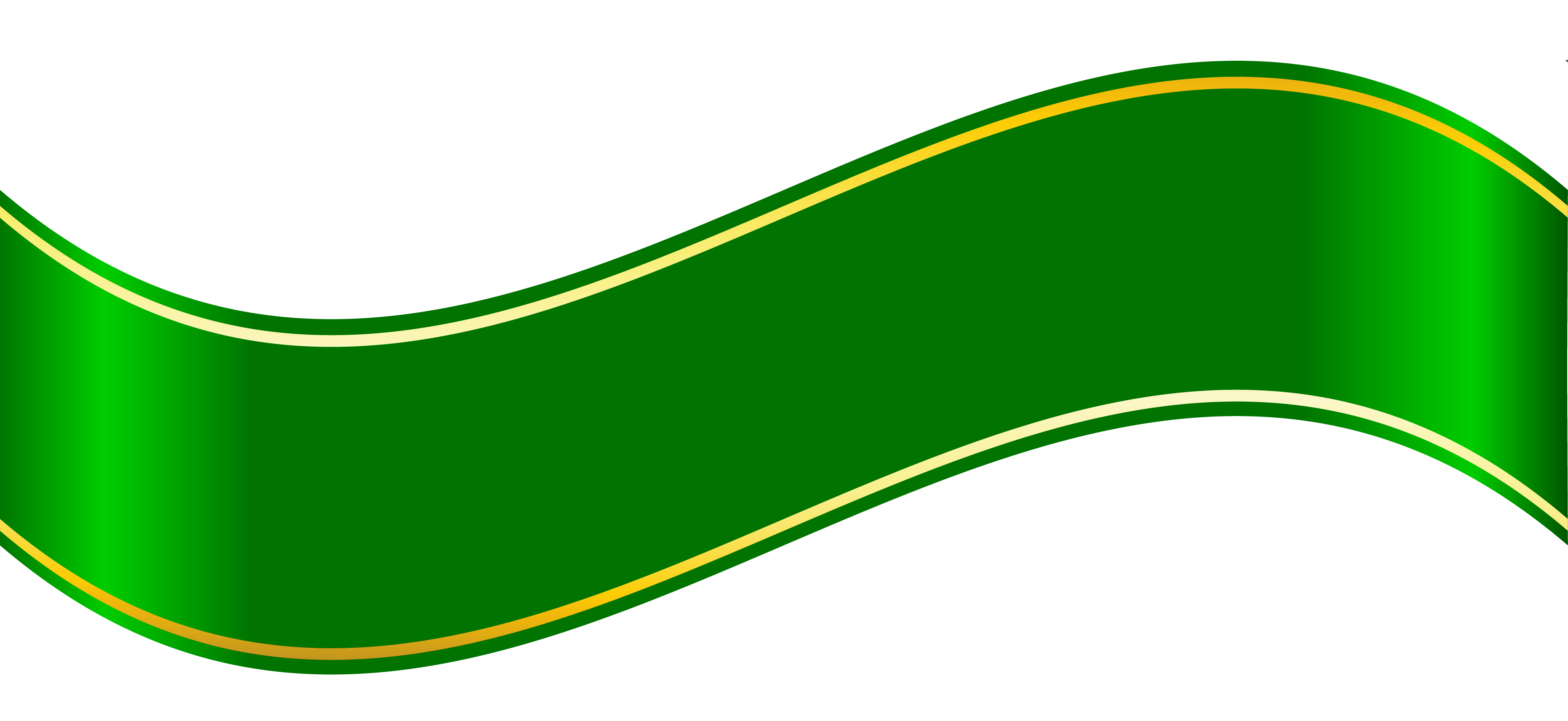 Curve Banner Png Green