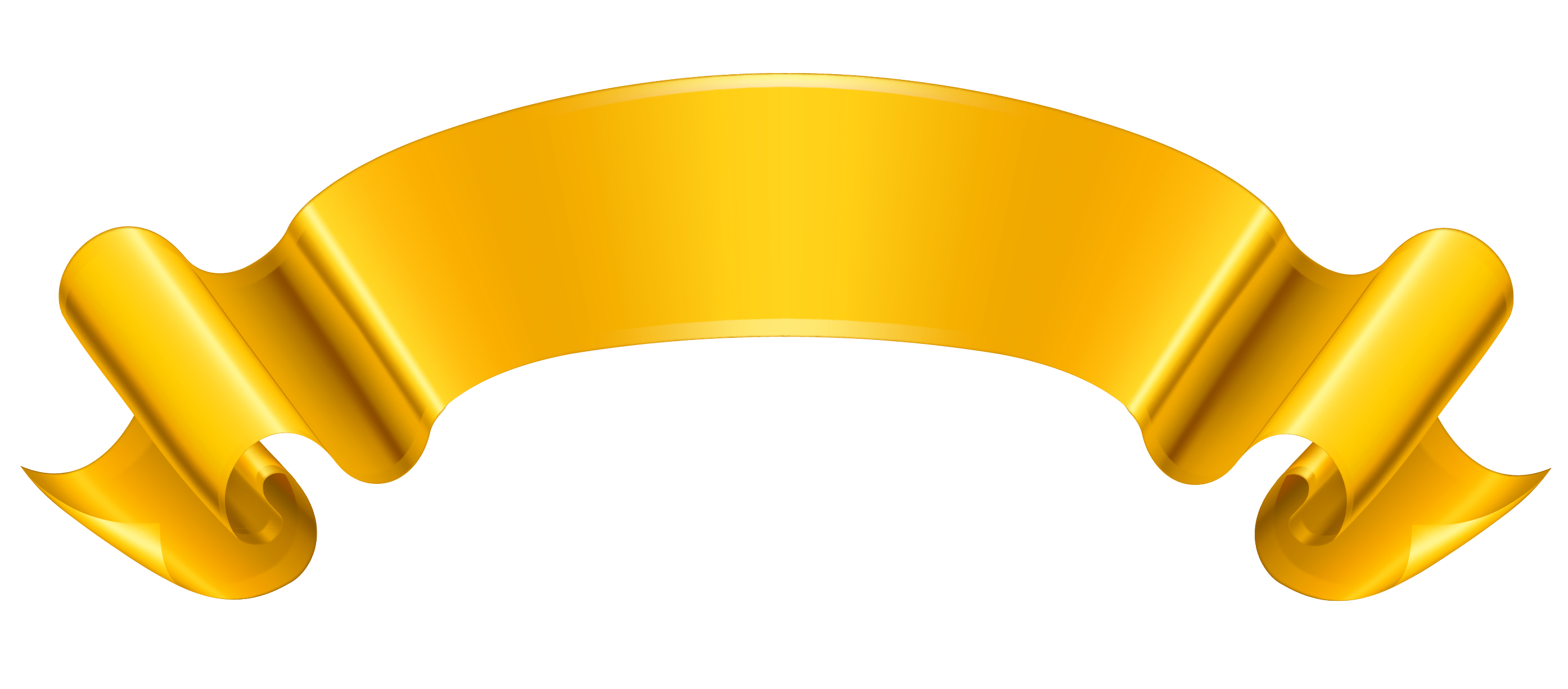 Gold, Yellow, Banner Png 6458
