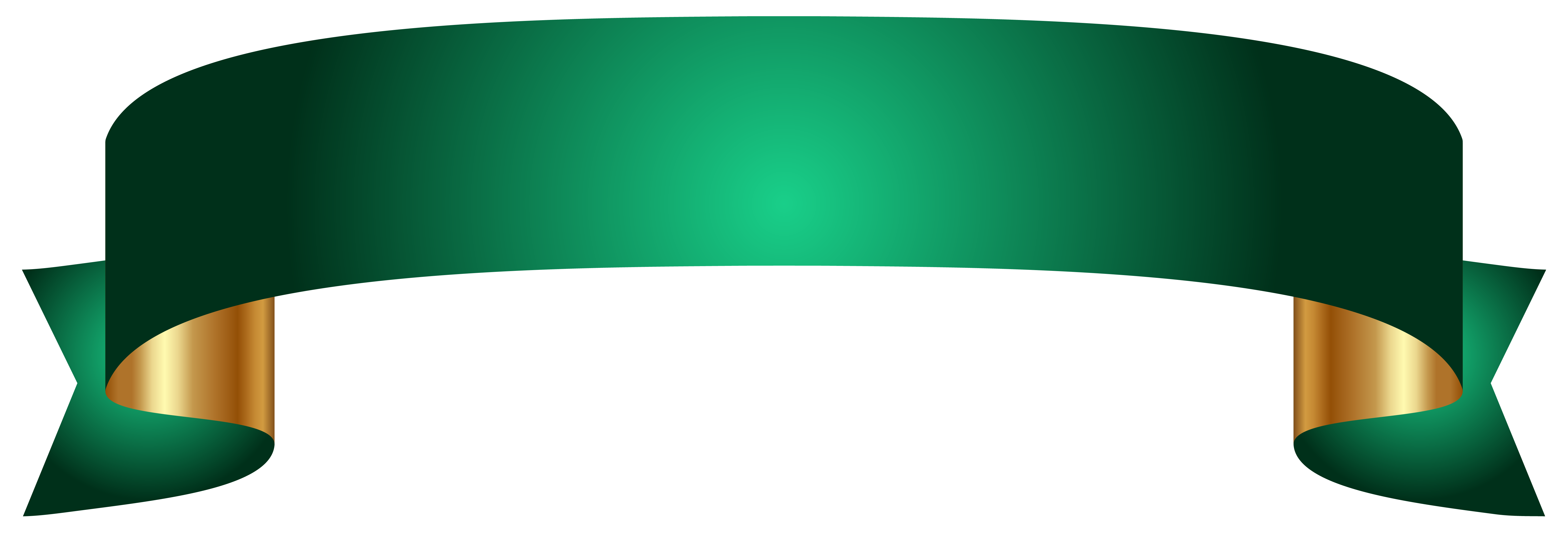 Green Banner Clipart Png