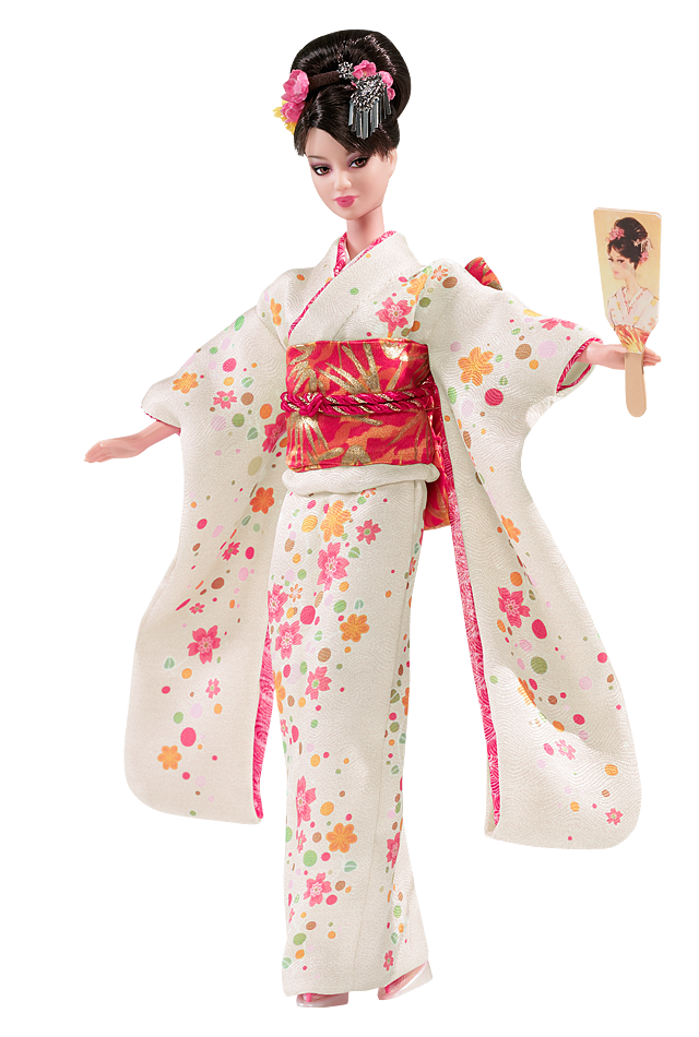 White Japan Barbie Doll Png 3211