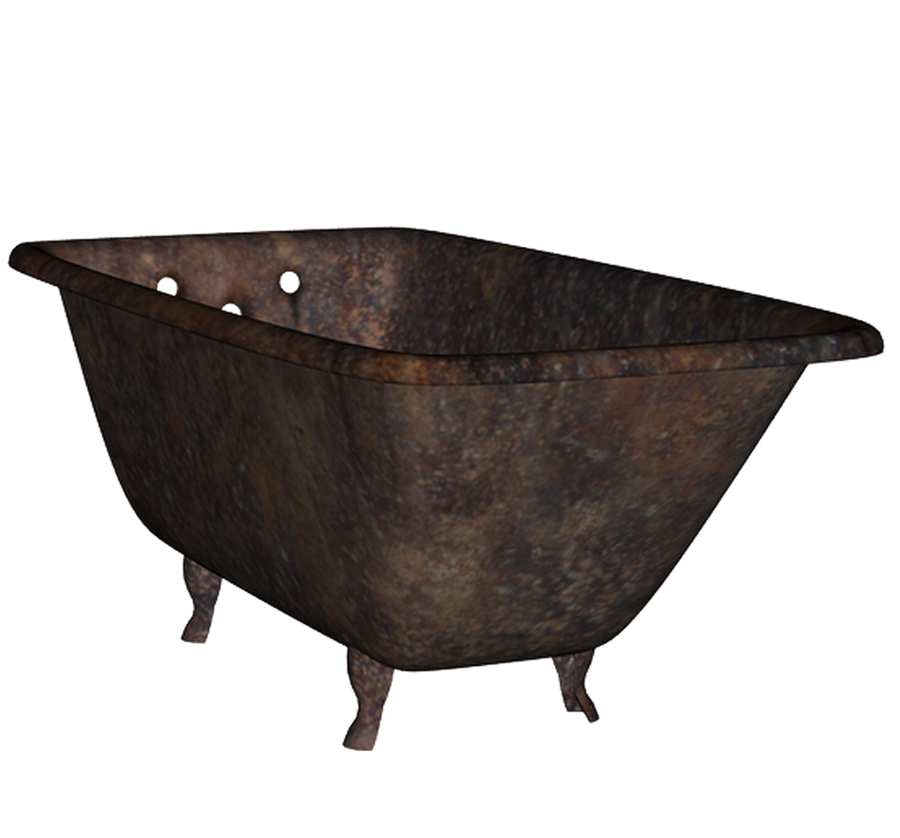 Rusty Old Bathtub Png 2522