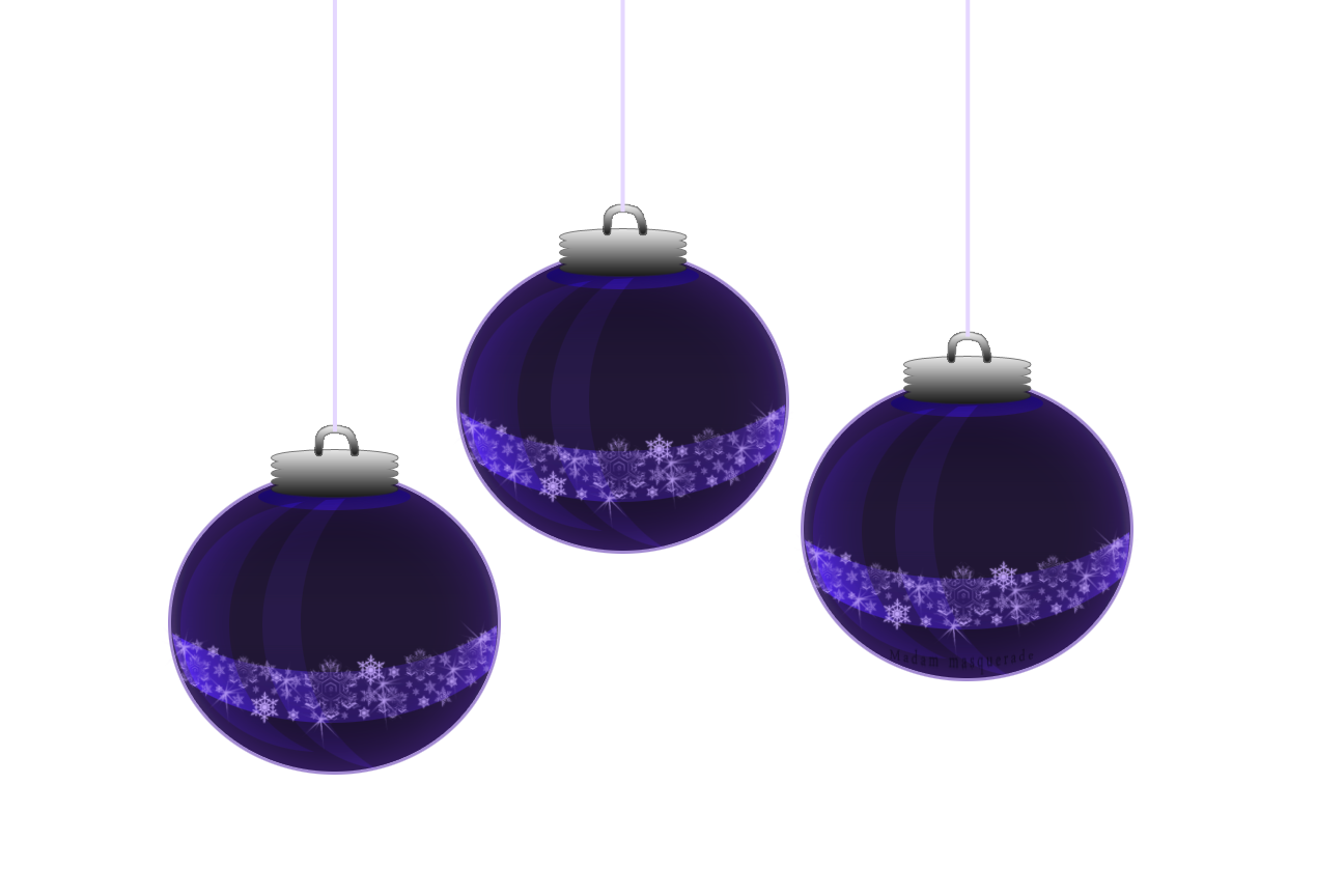Clipart Baubles Icon 7636