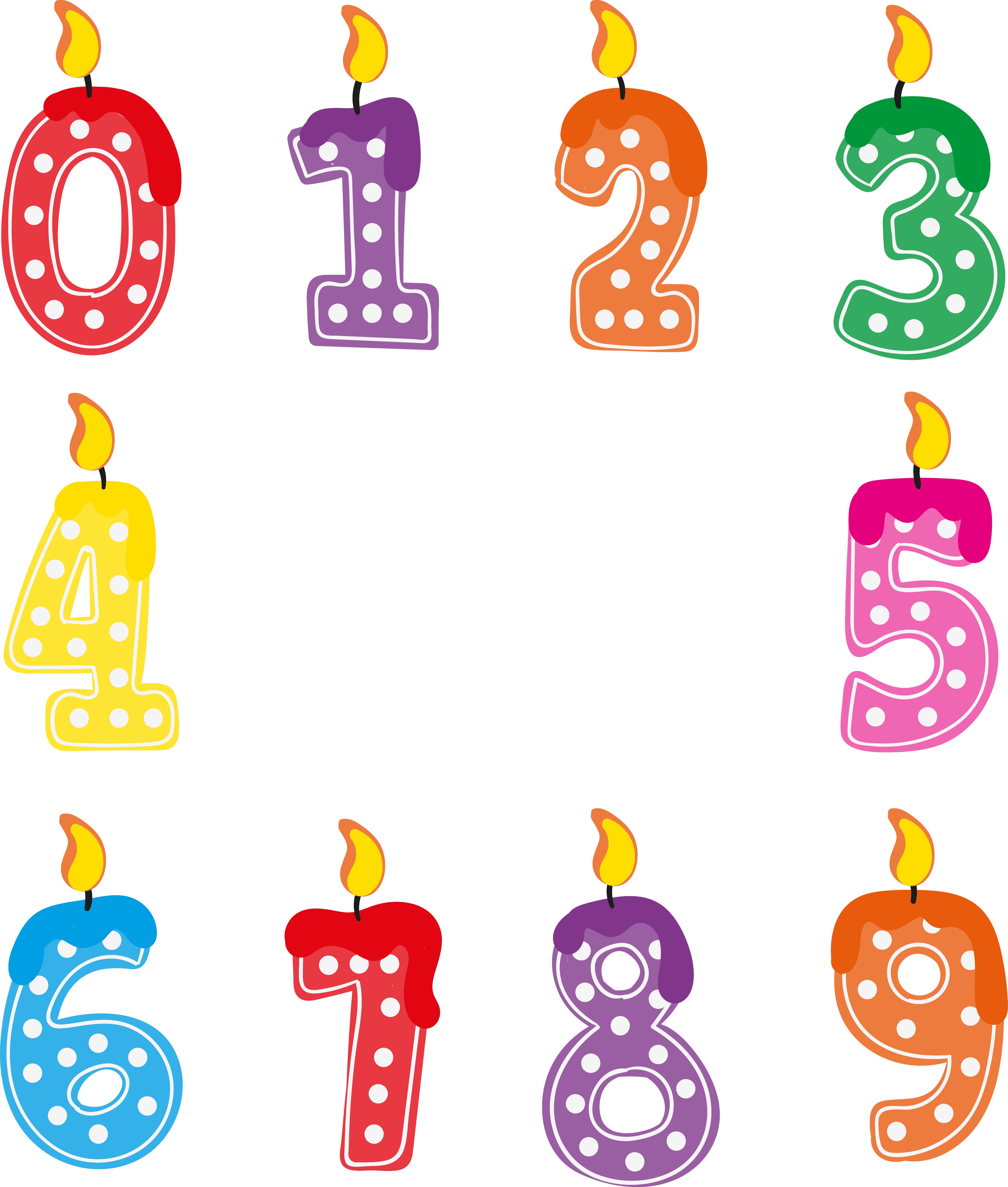 Birthday Candle Number Clipart PNG Photos Images