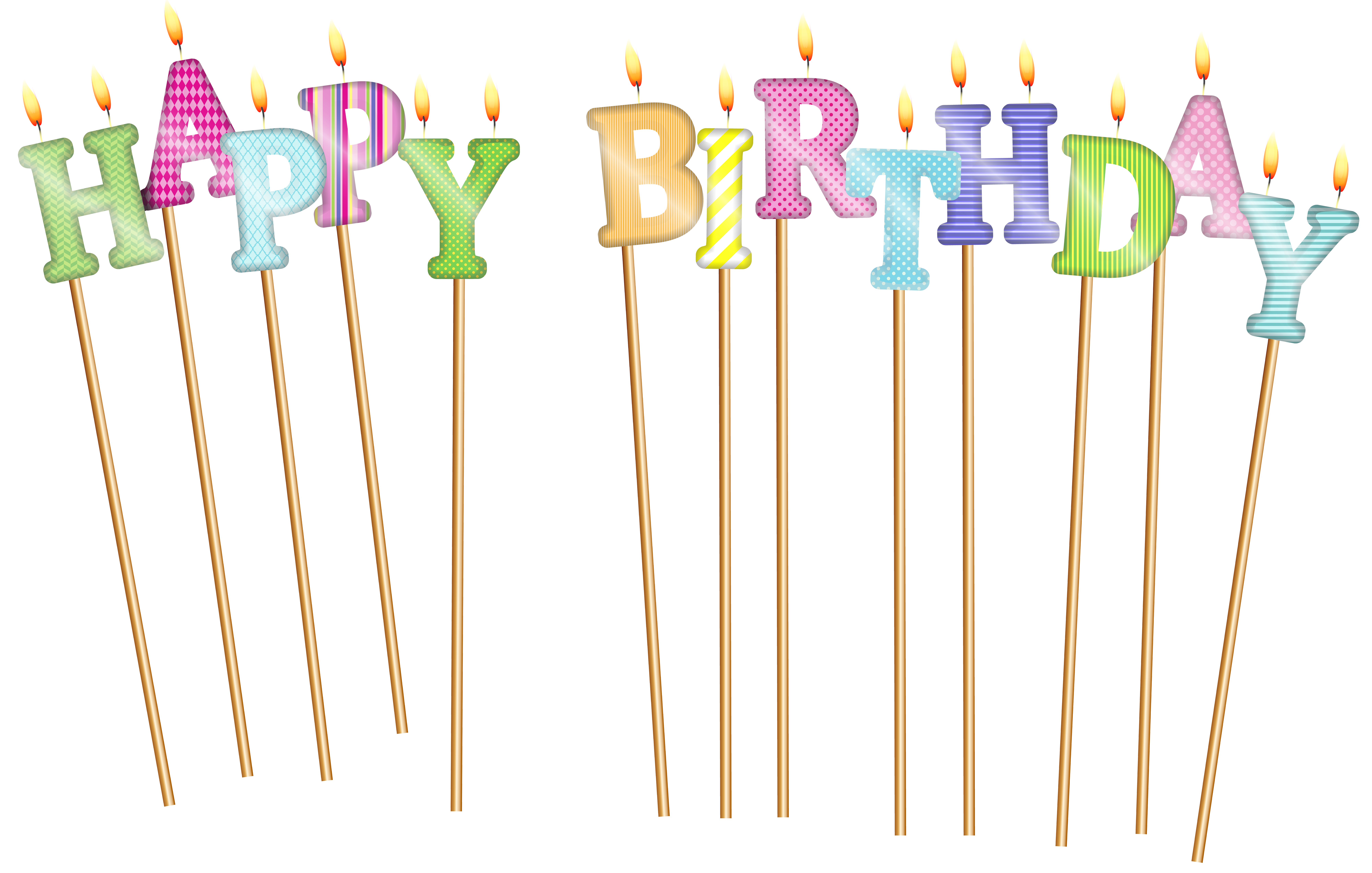 Happy Birthday Candles Free Download Transparent
