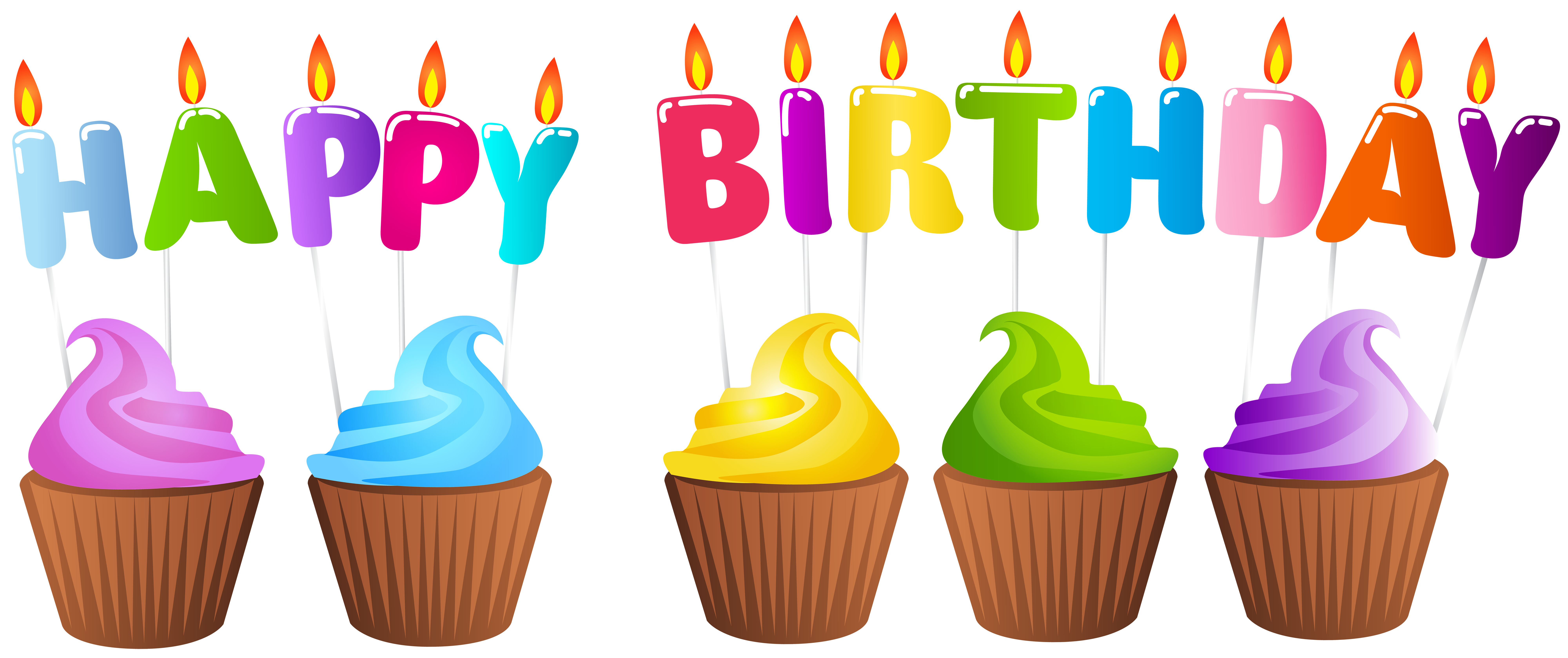 Download Birthday Candles And Cakes PNG Images