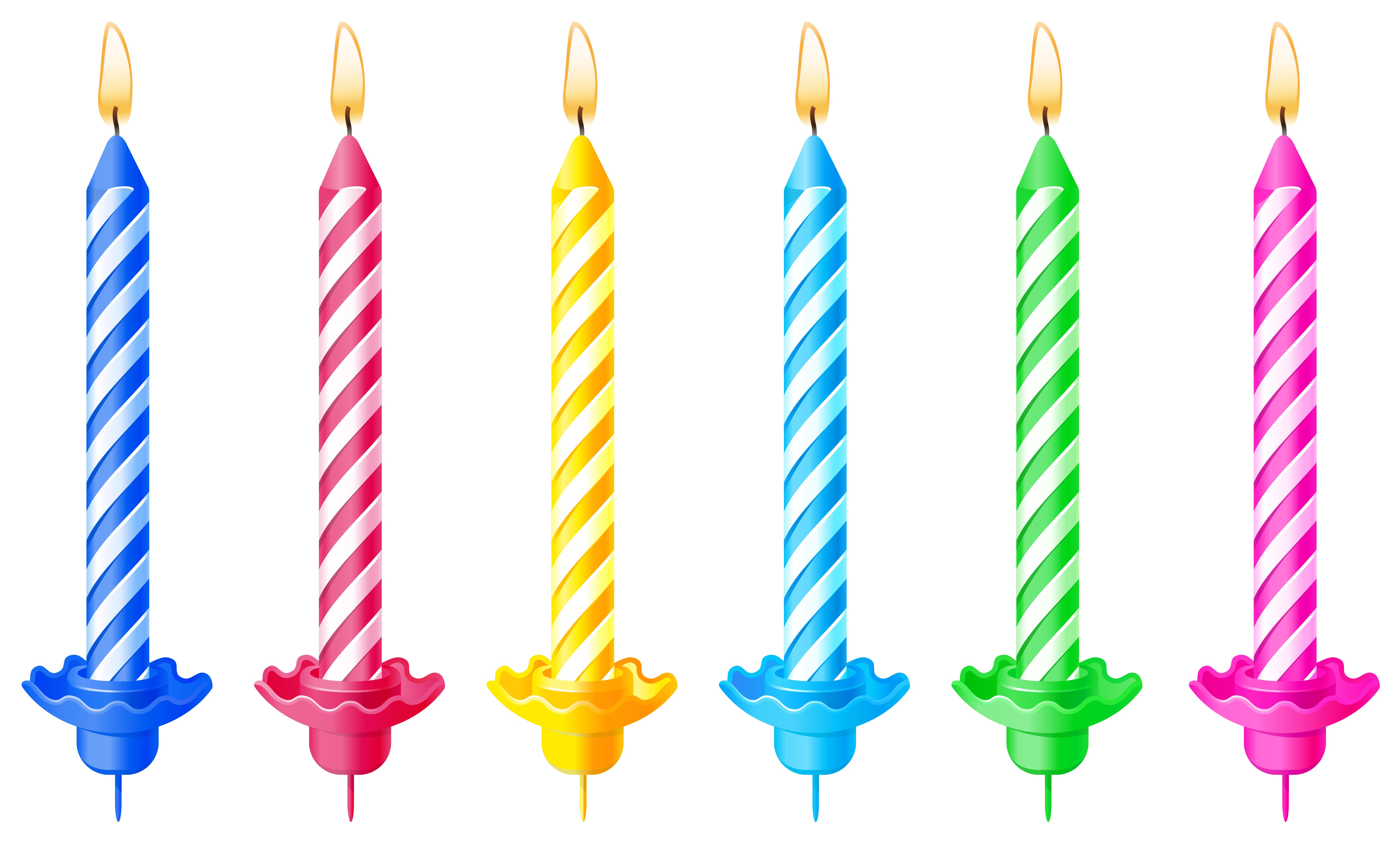 Birthday Candles Colorful Cut Out Png