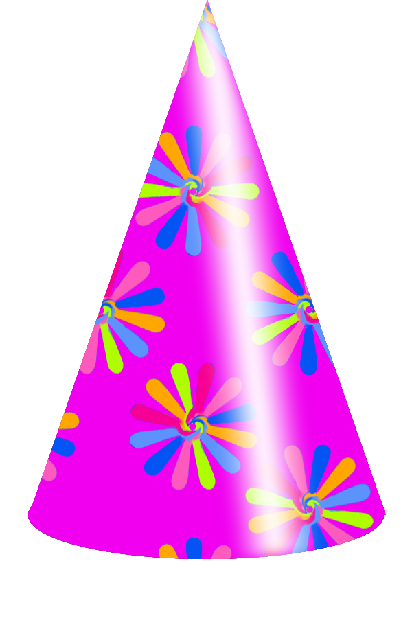 Colors Birthday Hat Vector Clipart Picture 5804