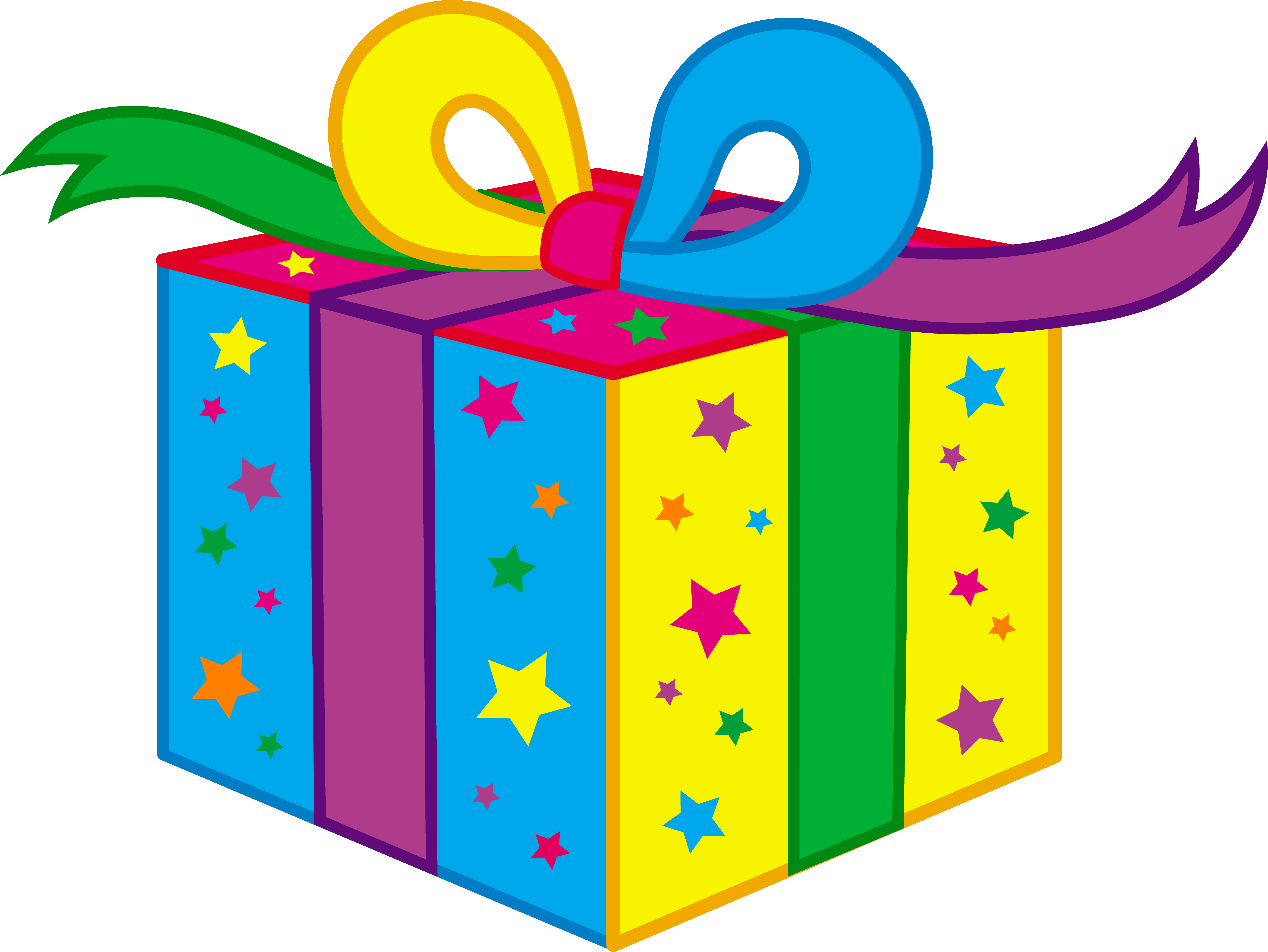 Kids Birthday Party Present Clipart Png