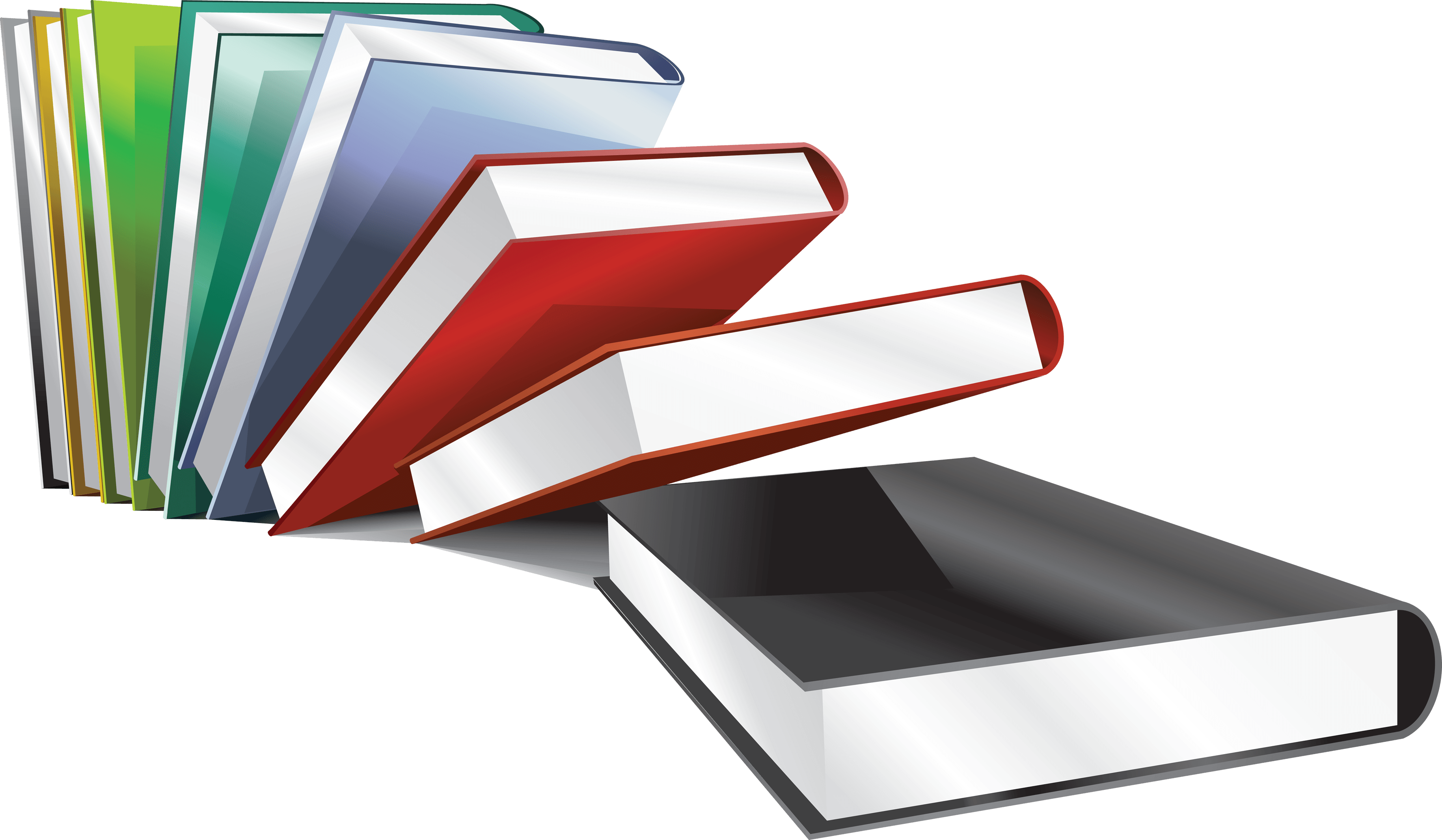Coorful Books Transparent PNG Images