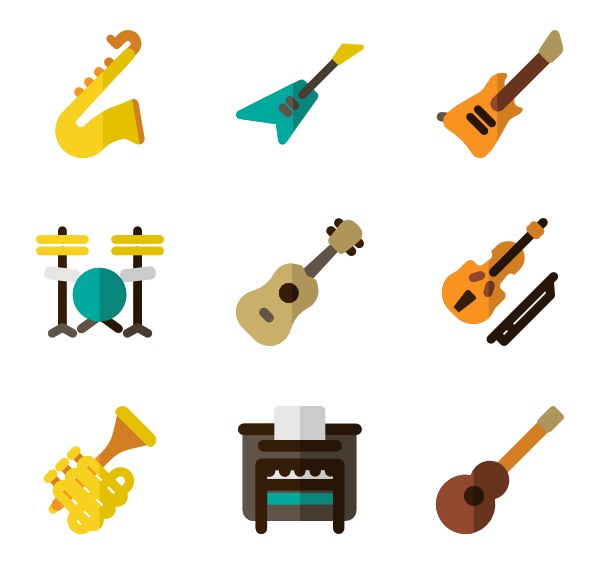 Musical Instrument Icons  2,752 Vector Icons 699