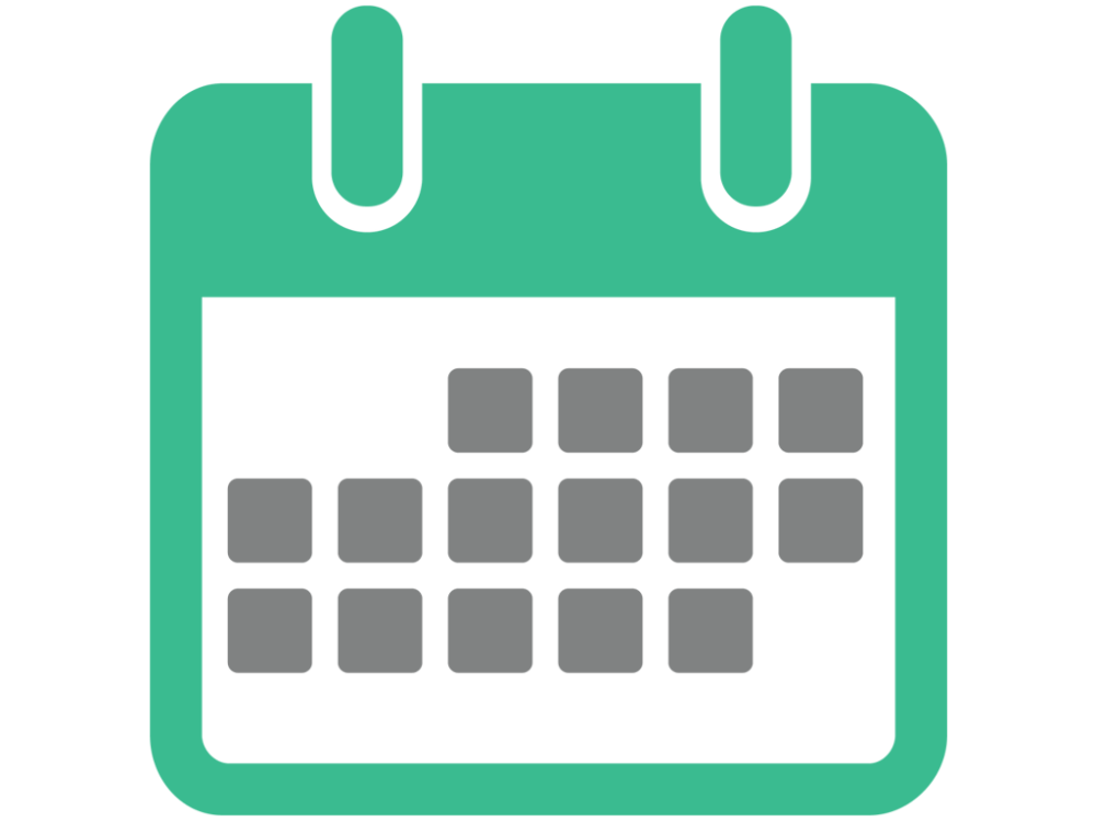 Green Calendar Vector Icon Png 3993