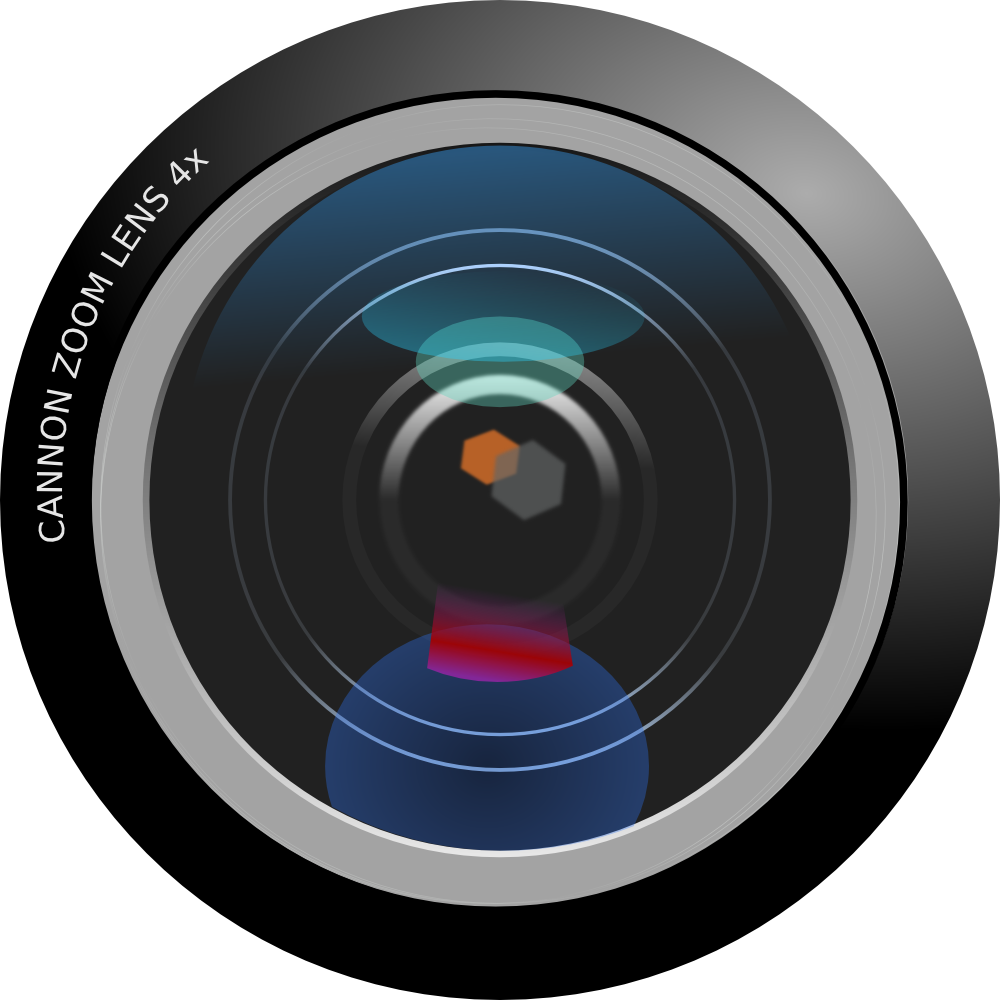 Camera Lens HD Clipart 9651