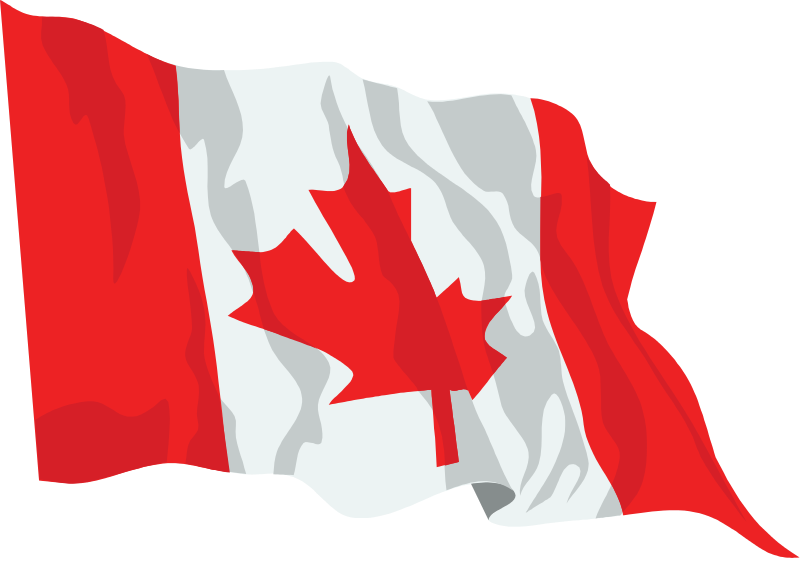 Canada Flag Waving Icon Png 4607