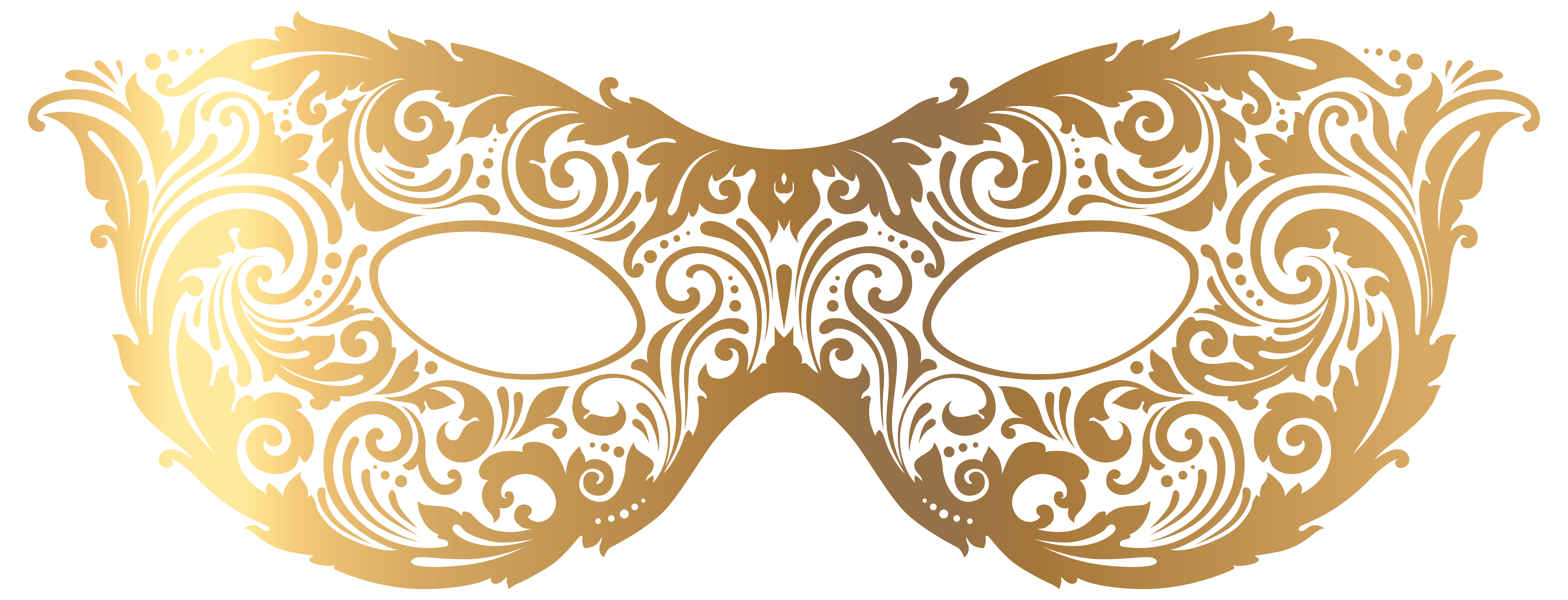 Gold Carnival Mask Png Transparent Image