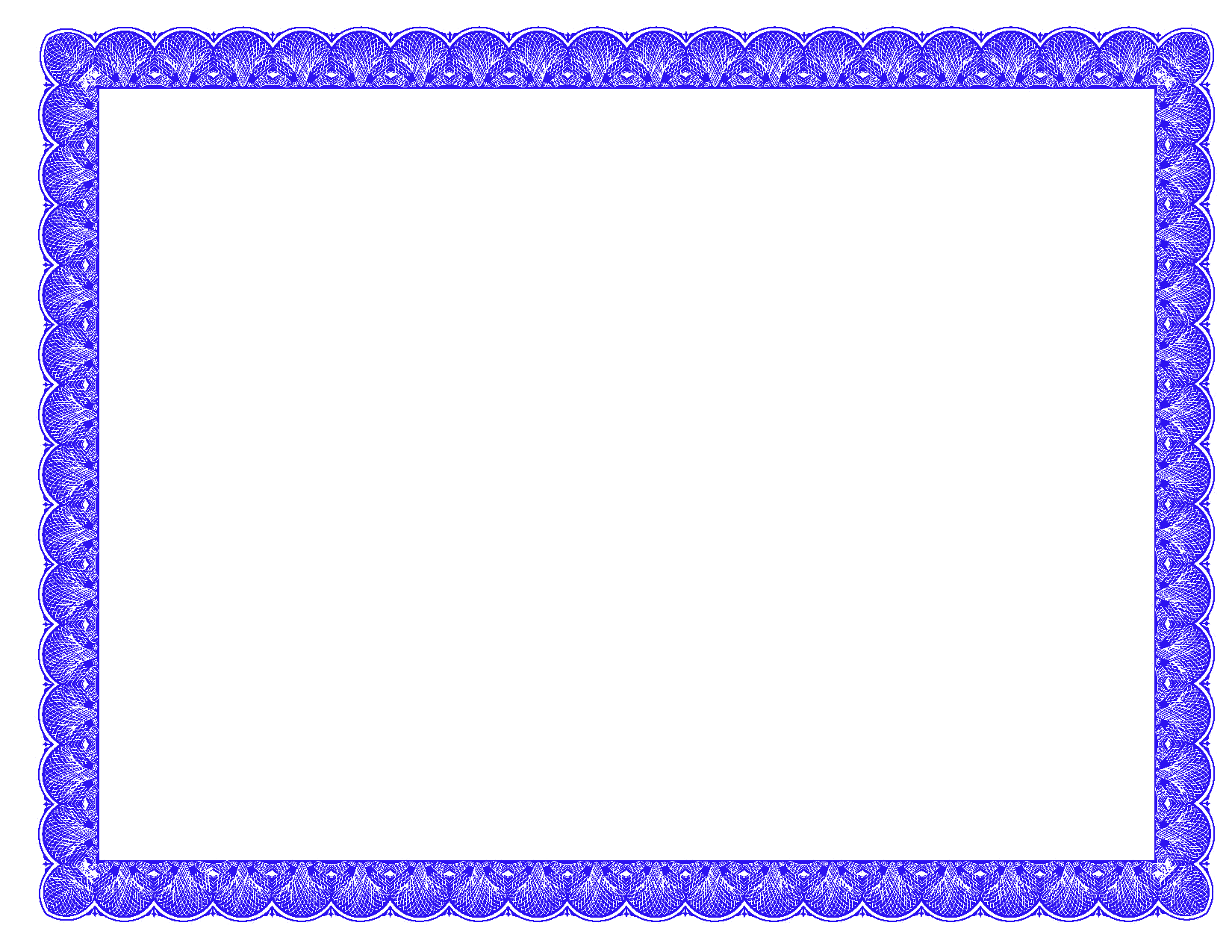 Blue Certificate Border Clipart Pic 4937