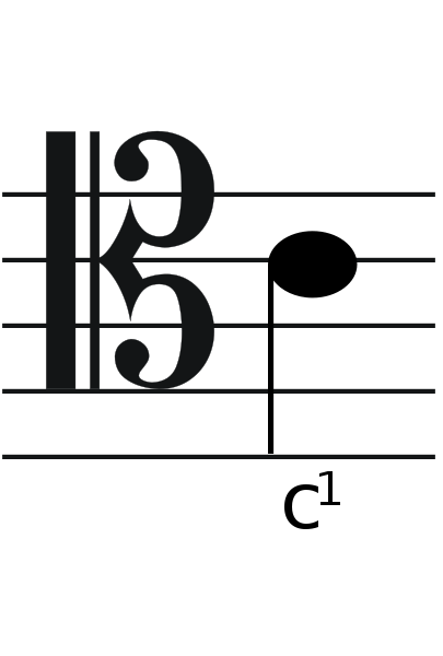 Tenor Clef With Note Photo 3794