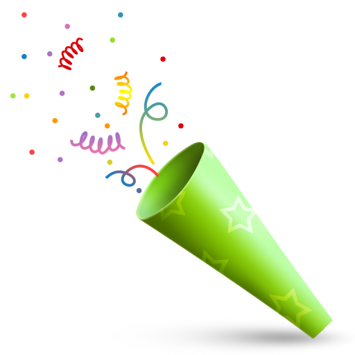 New Year Confetti Icon Png 5712